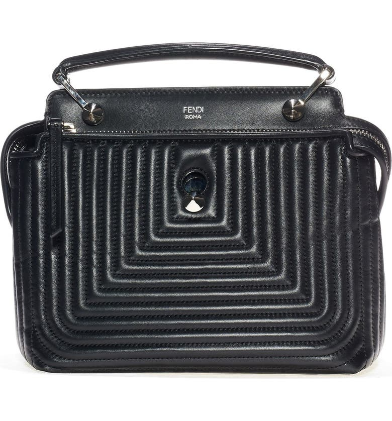 f8eceb1b2f2b Fendi  DOTCOM Click  Quilted Leather Satchel