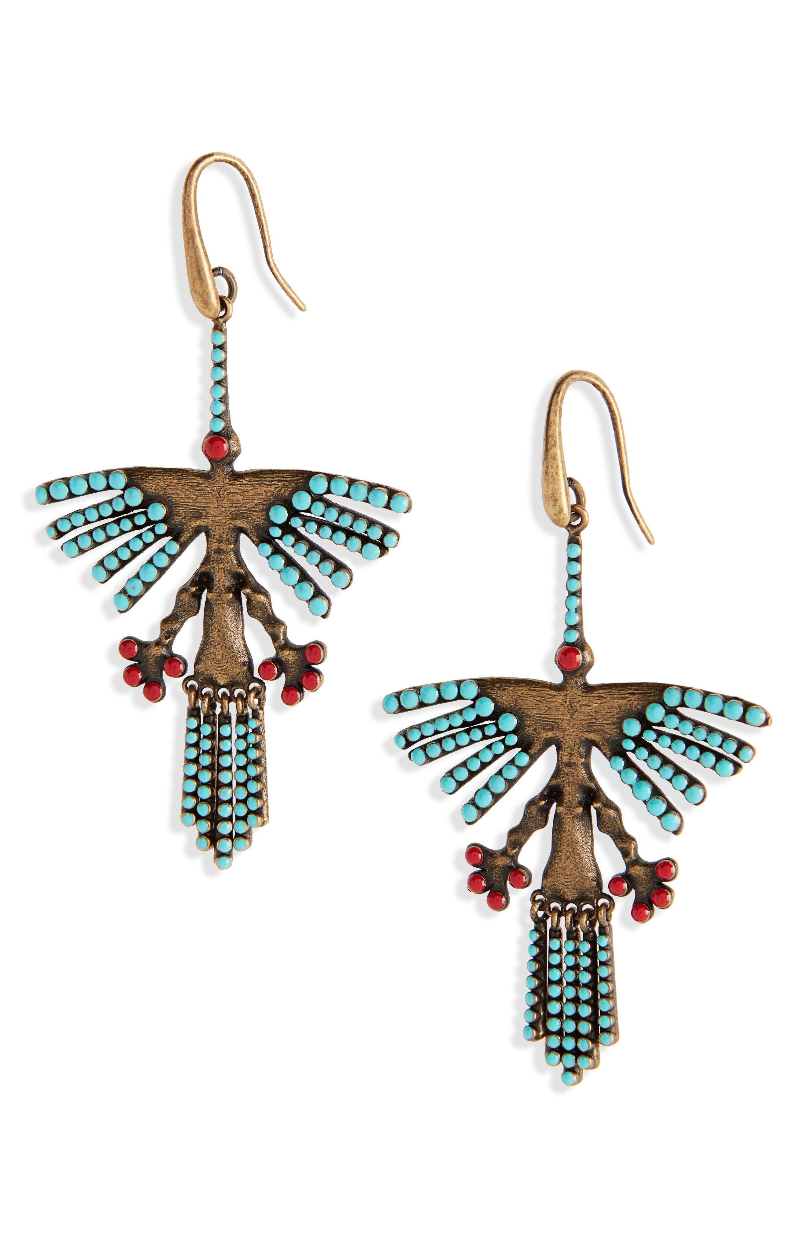 Hummingbird Earrings,                             Main thumbnail 1, color,