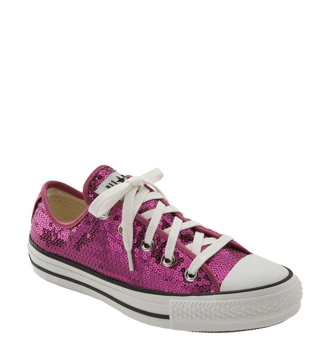 CONVERSE Chuck Taylor<sup>®</sup> Sequined Sneaker, Main, color, 606