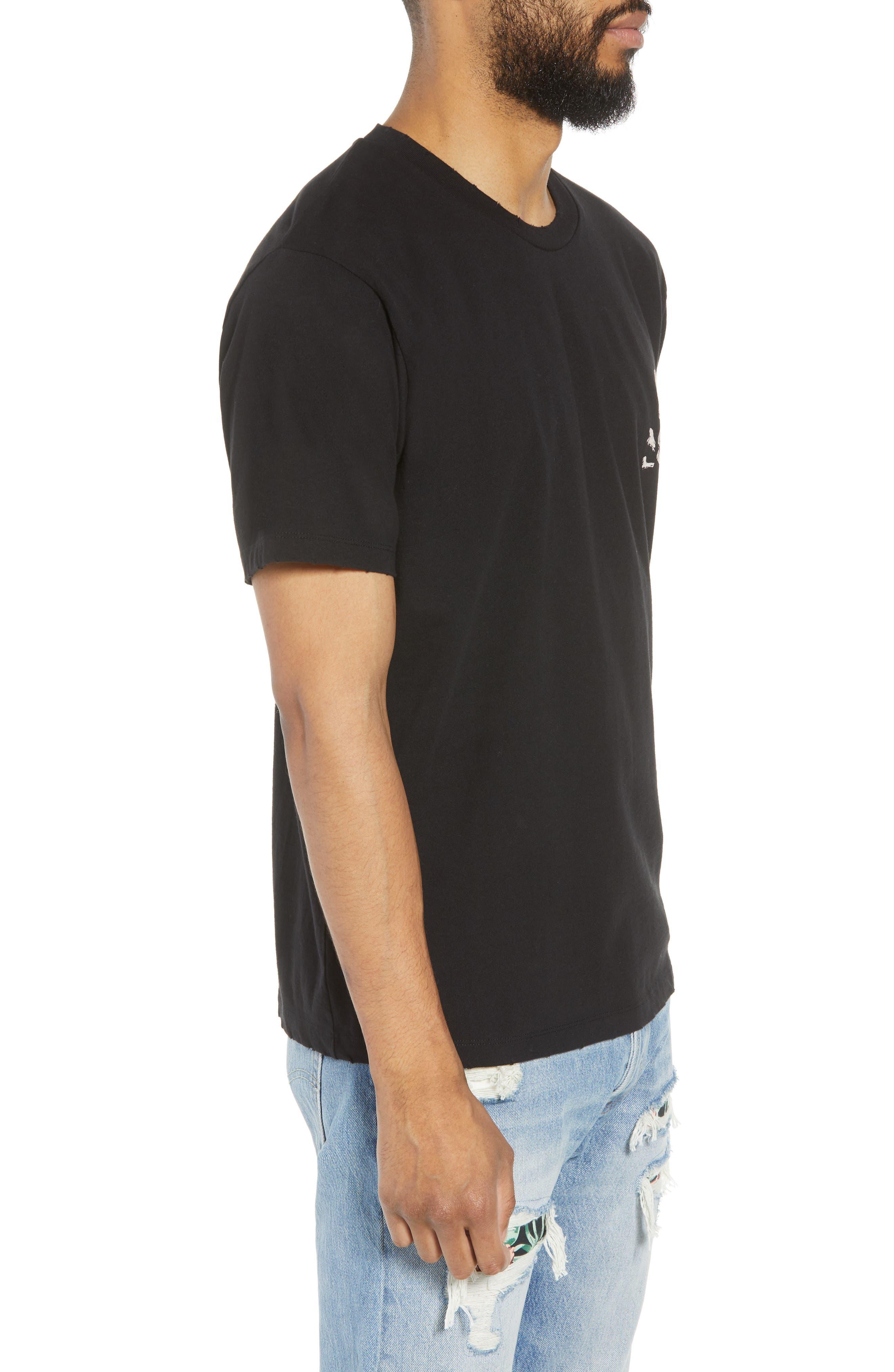 Regular Fit Skullhead Graphic T-Shirt,                             Alternate thumbnail 3, color,                             001