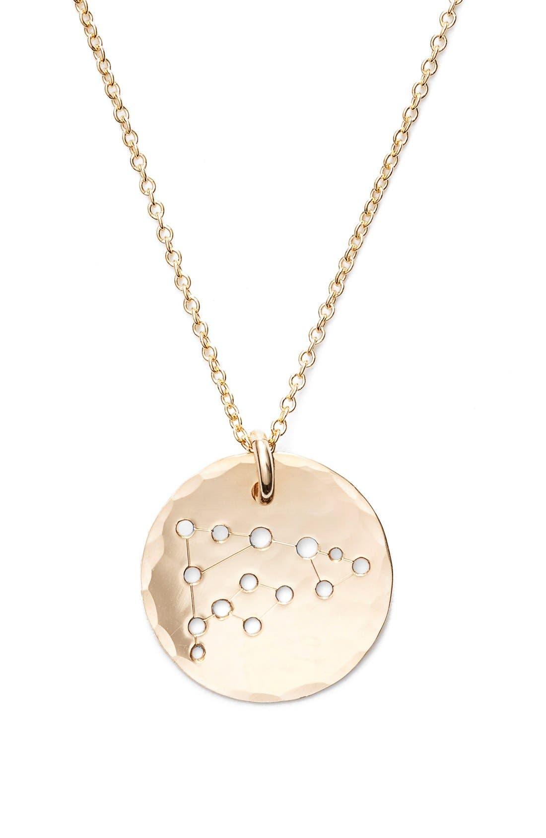 Ija 'Small Zodiac' 14k-Gold Fill Necklace,                             Alternate thumbnail 35, color,