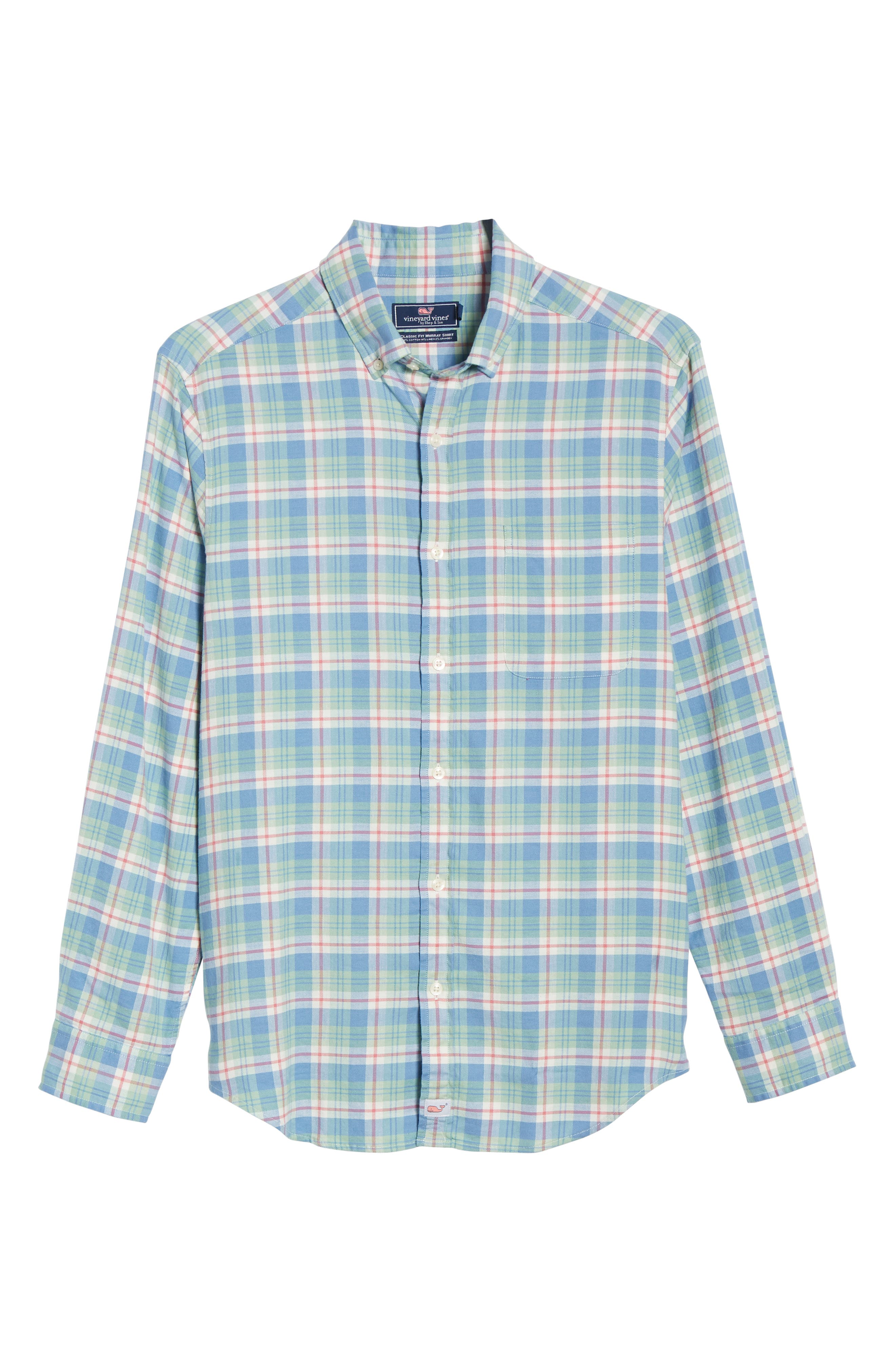 VINEYARD VINES,                             Murray Slim Fit Twill Sport Shirt,                             Alternate thumbnail 5, color,                             SEA KELP