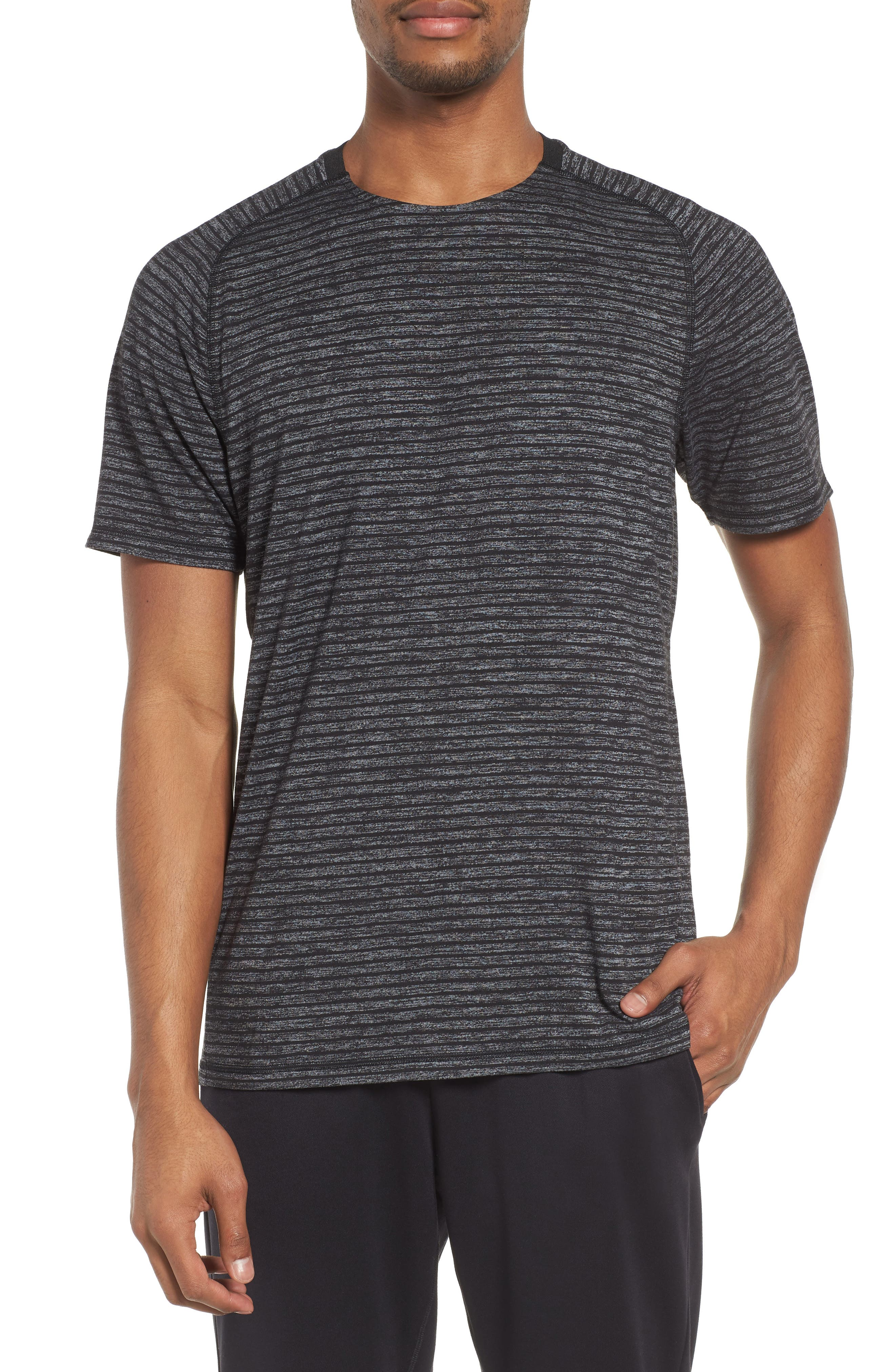 Stripe Crewneck T-Shirt,                             Main thumbnail 1, color,                             030