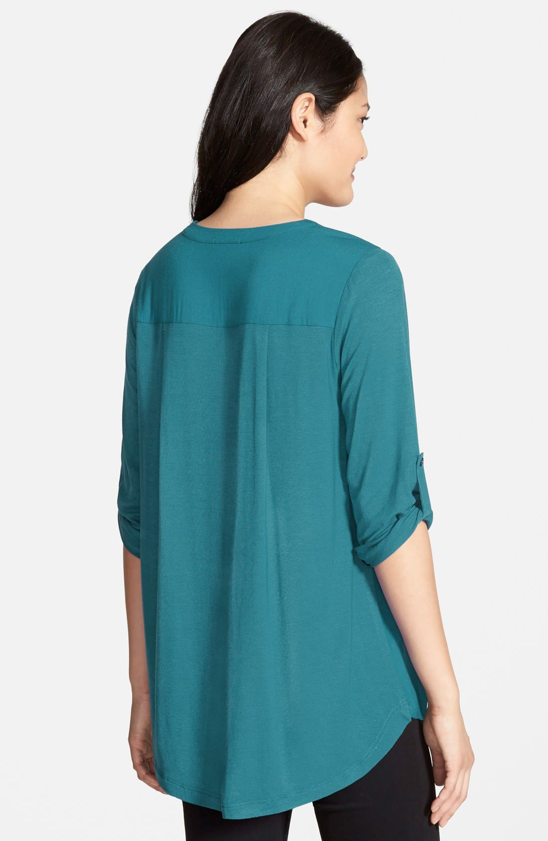 Mixed Media V-Neck Tunic,                             Alternate thumbnail 192, color,