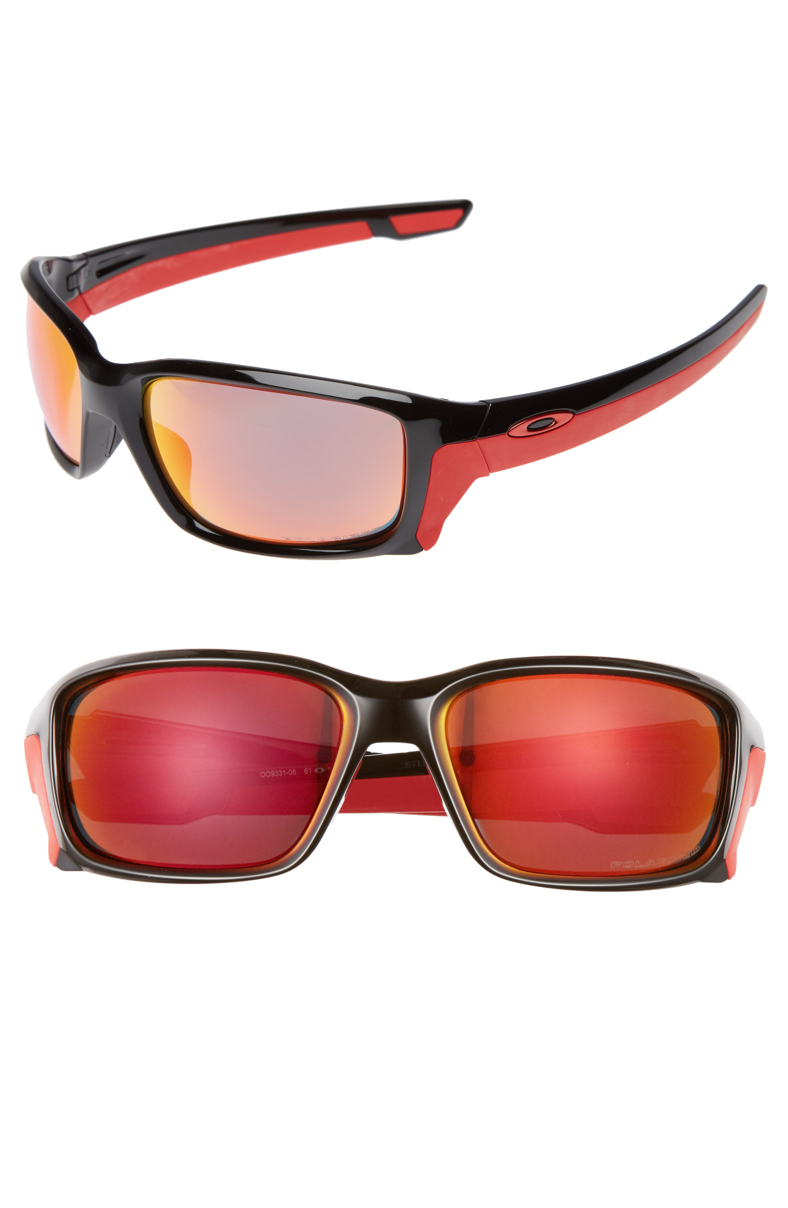 Straightlink 61mm Polarized Sunglasses,                         Main,                         color, 001