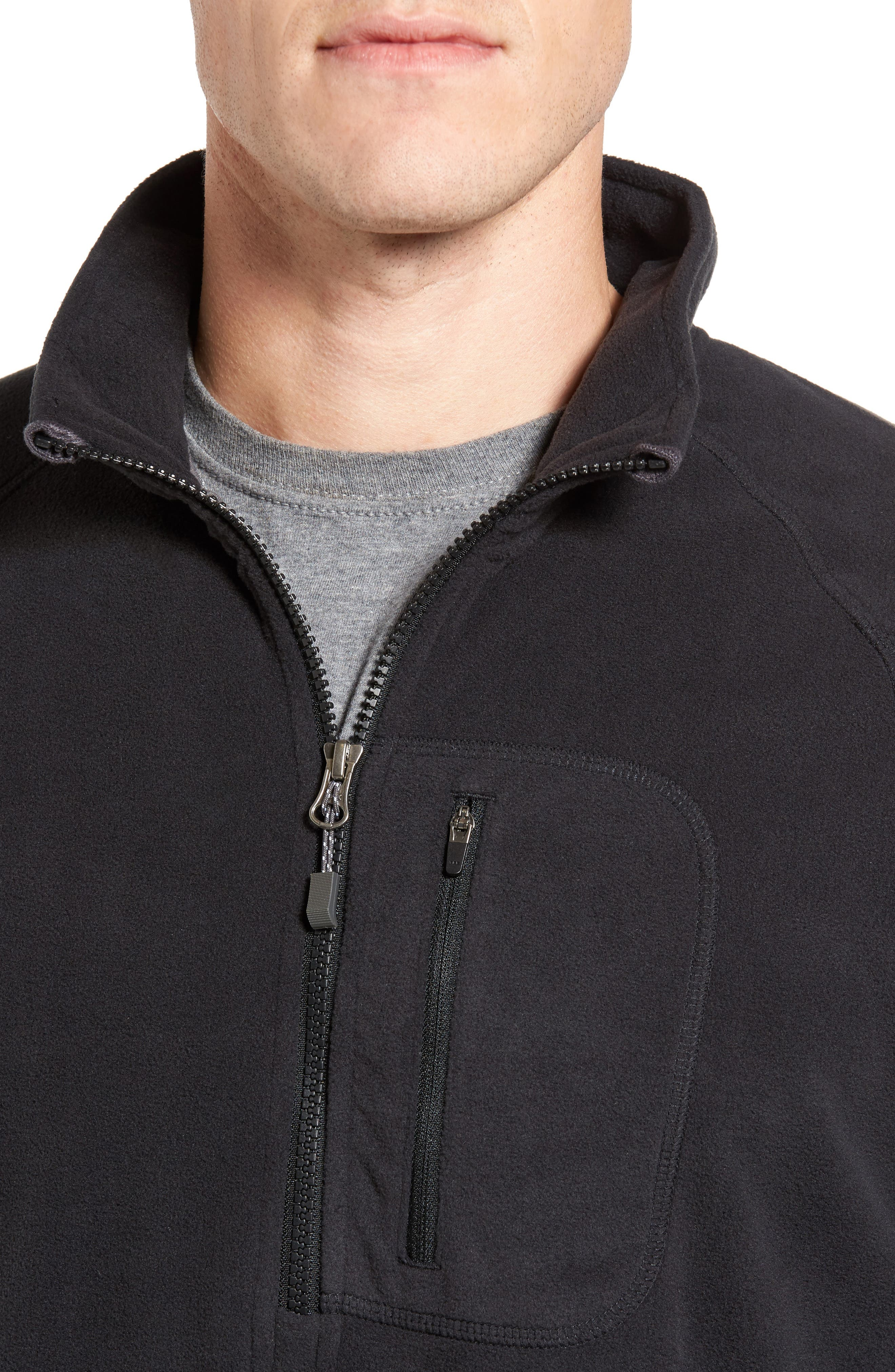 Utility Quarter Zip Fleece Sweater,                             Alternate thumbnail 4, color,                             002