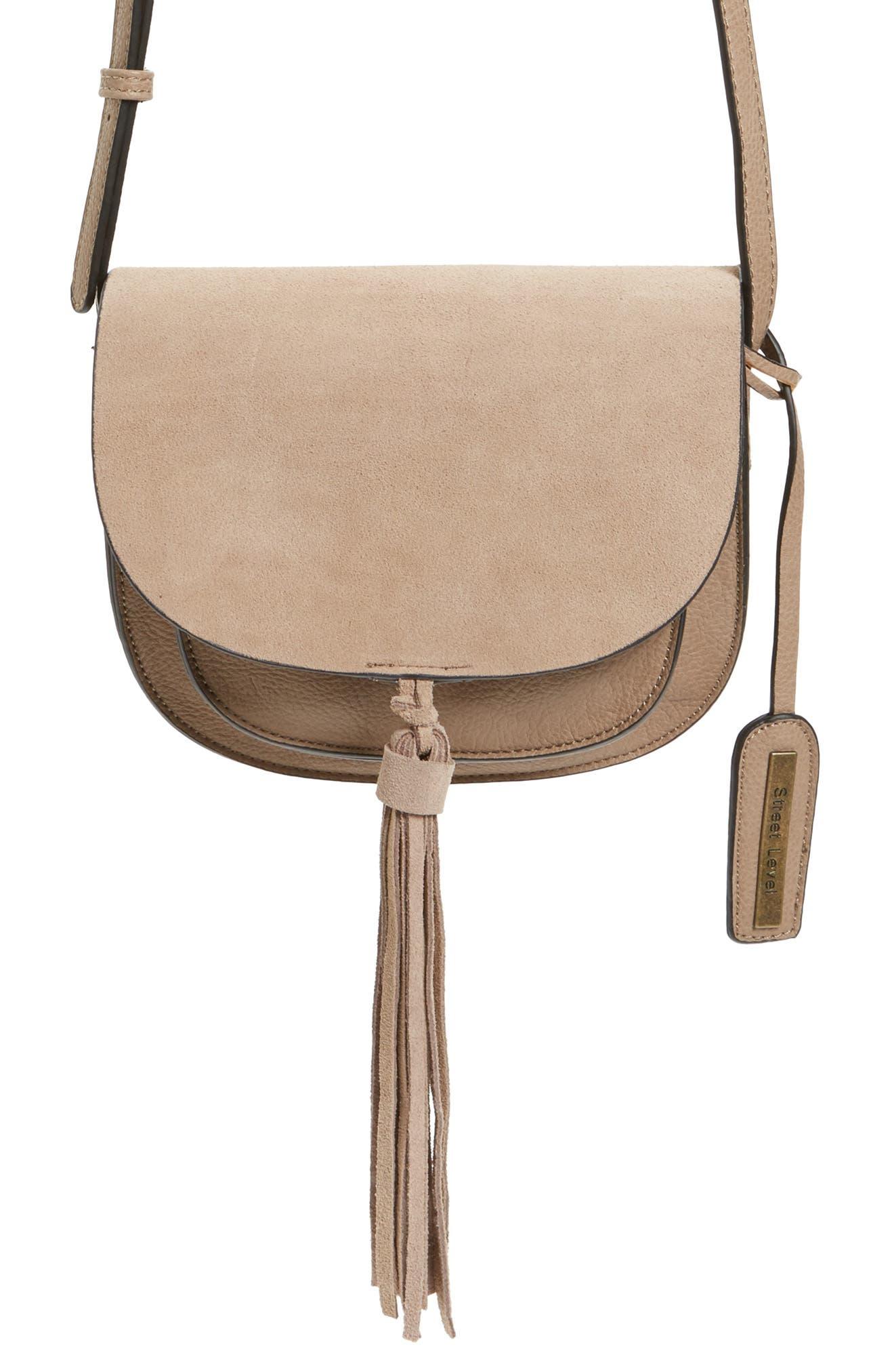Tassel Faux Leather Crossbody Bag,                             Alternate thumbnail 2, color,                             250
