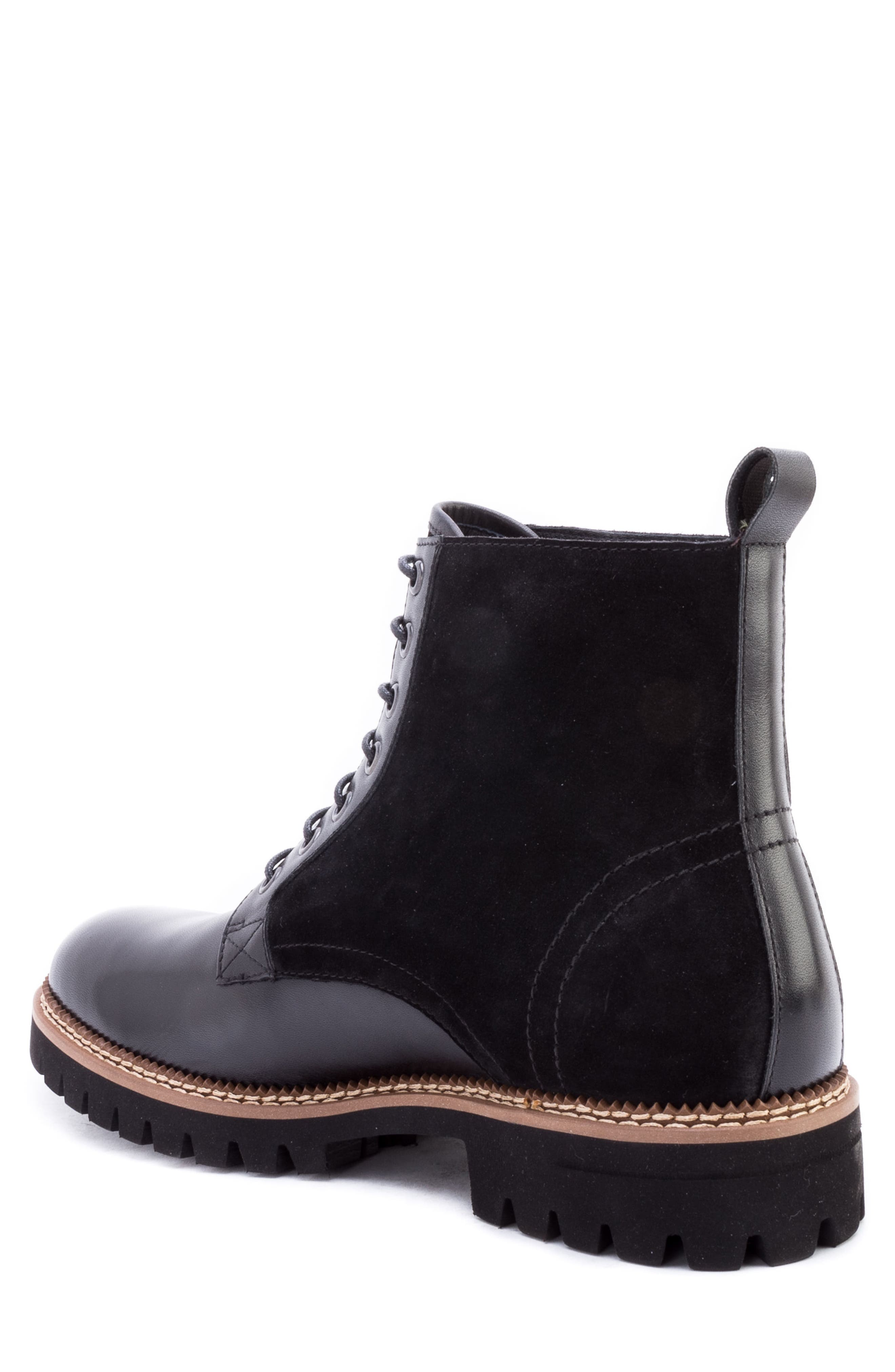 Millet Water Resistant Lugged Boot,                             Alternate thumbnail 2, color,                             BLACK LEATHER