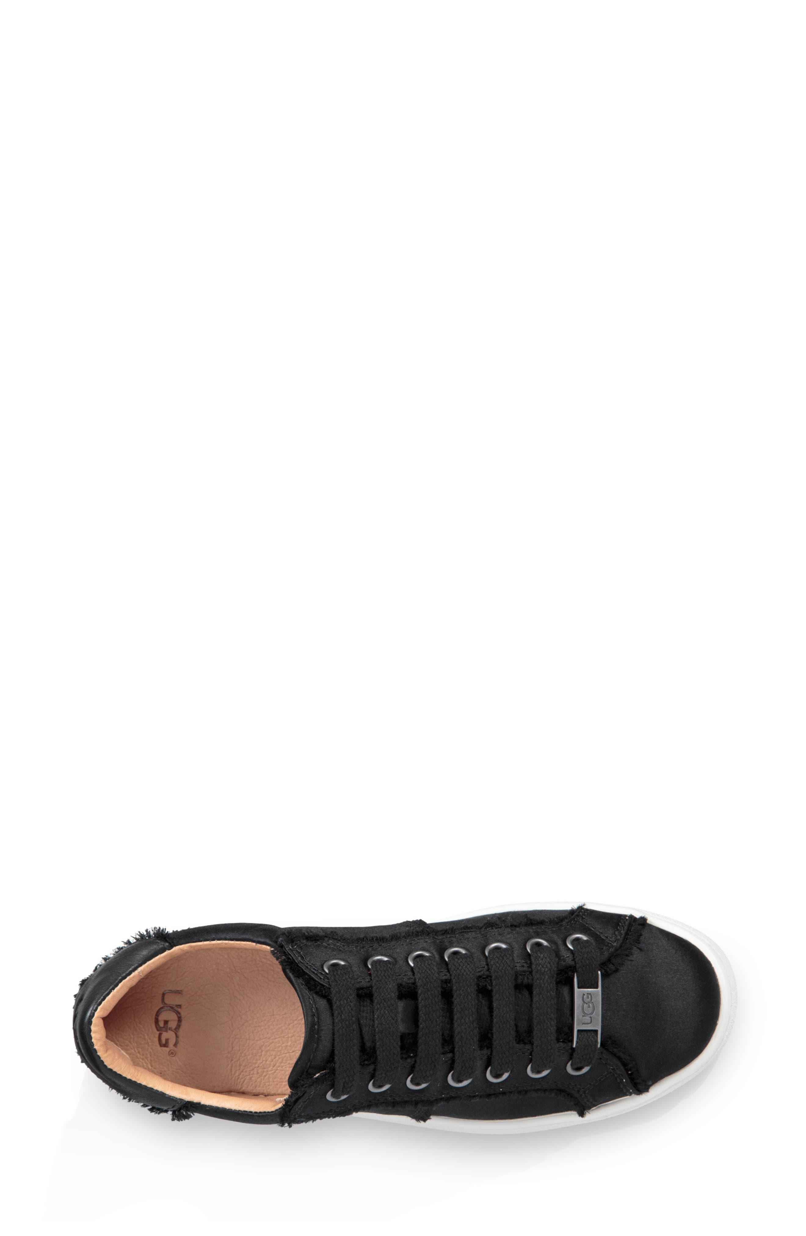 Milo Spill Seam Sneaker,                             Alternate thumbnail 4, color,                             BLACK FABRIC
