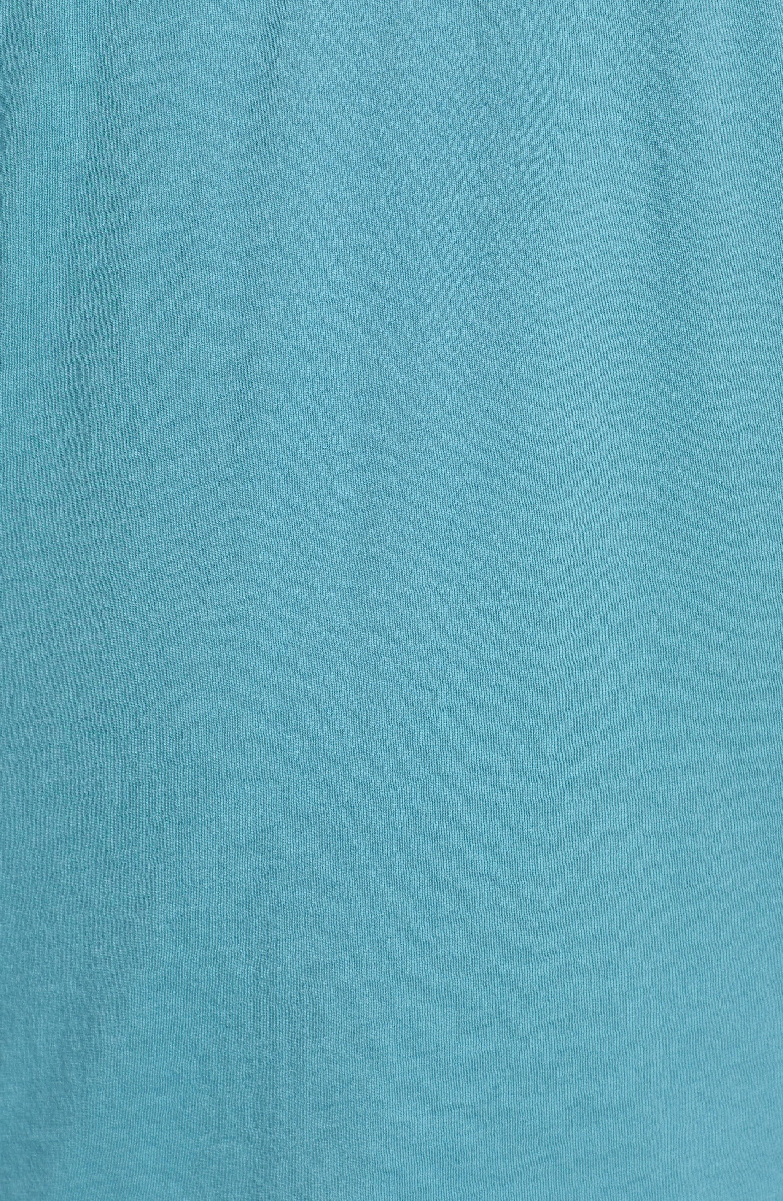 Layered Henley T-Shirt,                             Alternate thumbnail 5, color,                             HARBOR