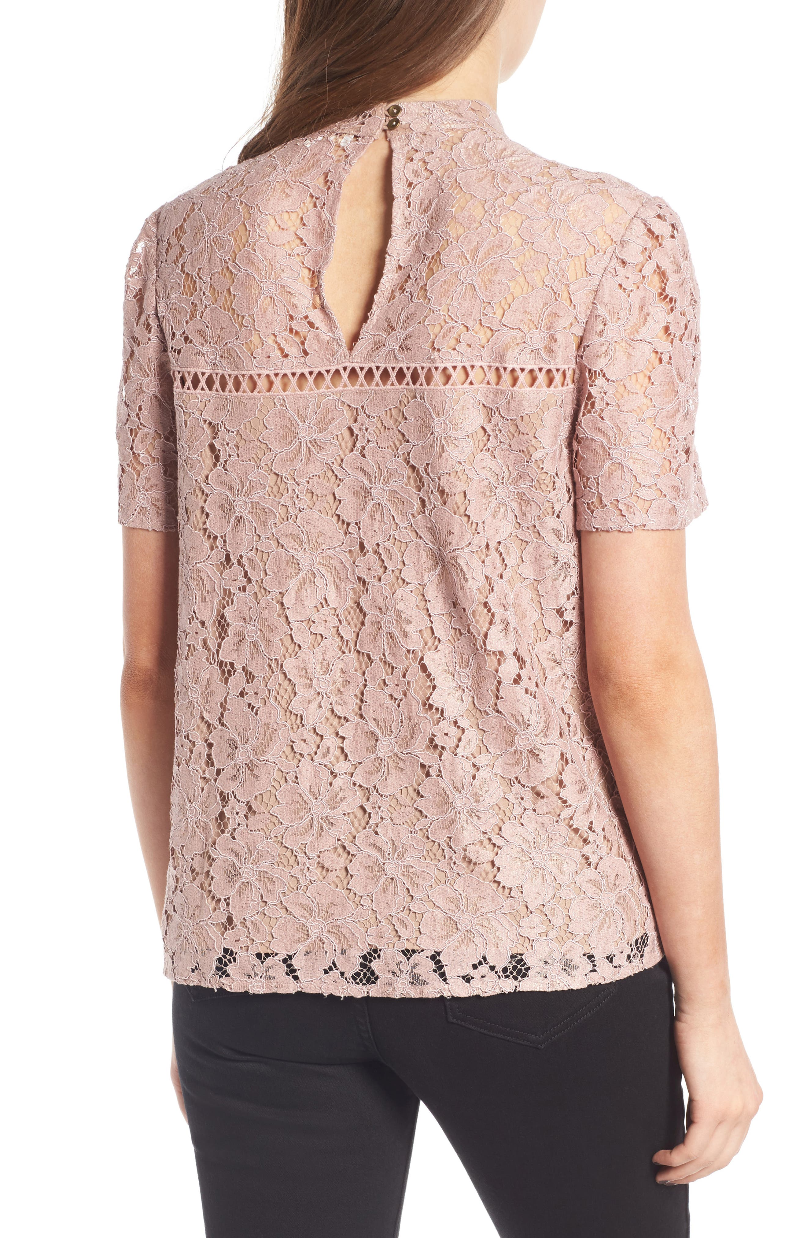 Greyson Lace Top,                             Alternate thumbnail 2, color,                             650