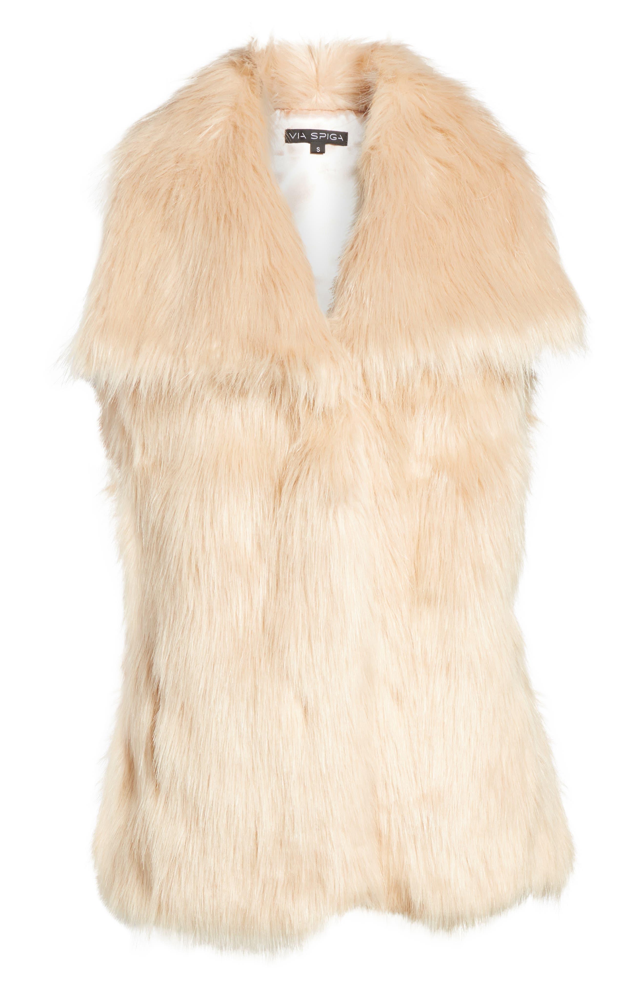 Faux Fur Vest,                             Alternate thumbnail 17, color,