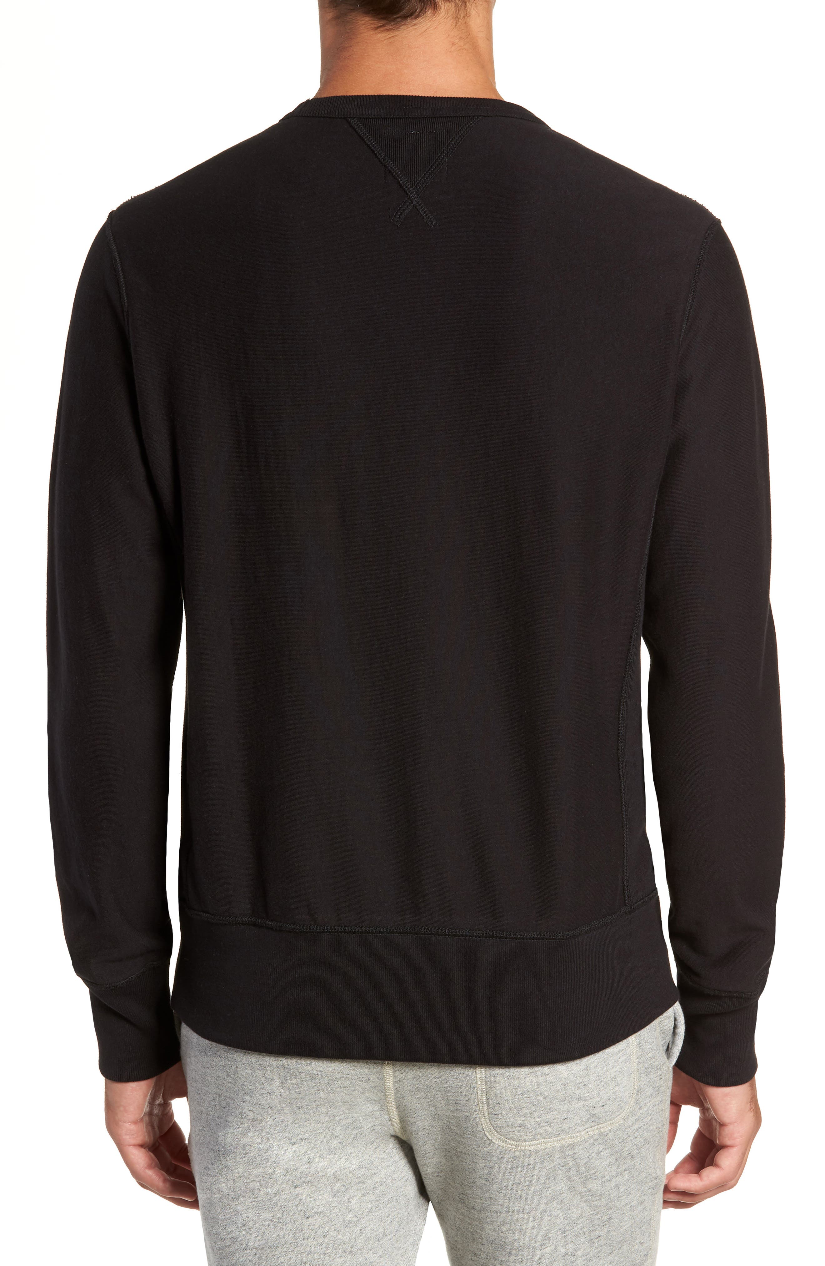+ Champion Script Sweatshirt,                             Alternate thumbnail 2, color,                             BLACK