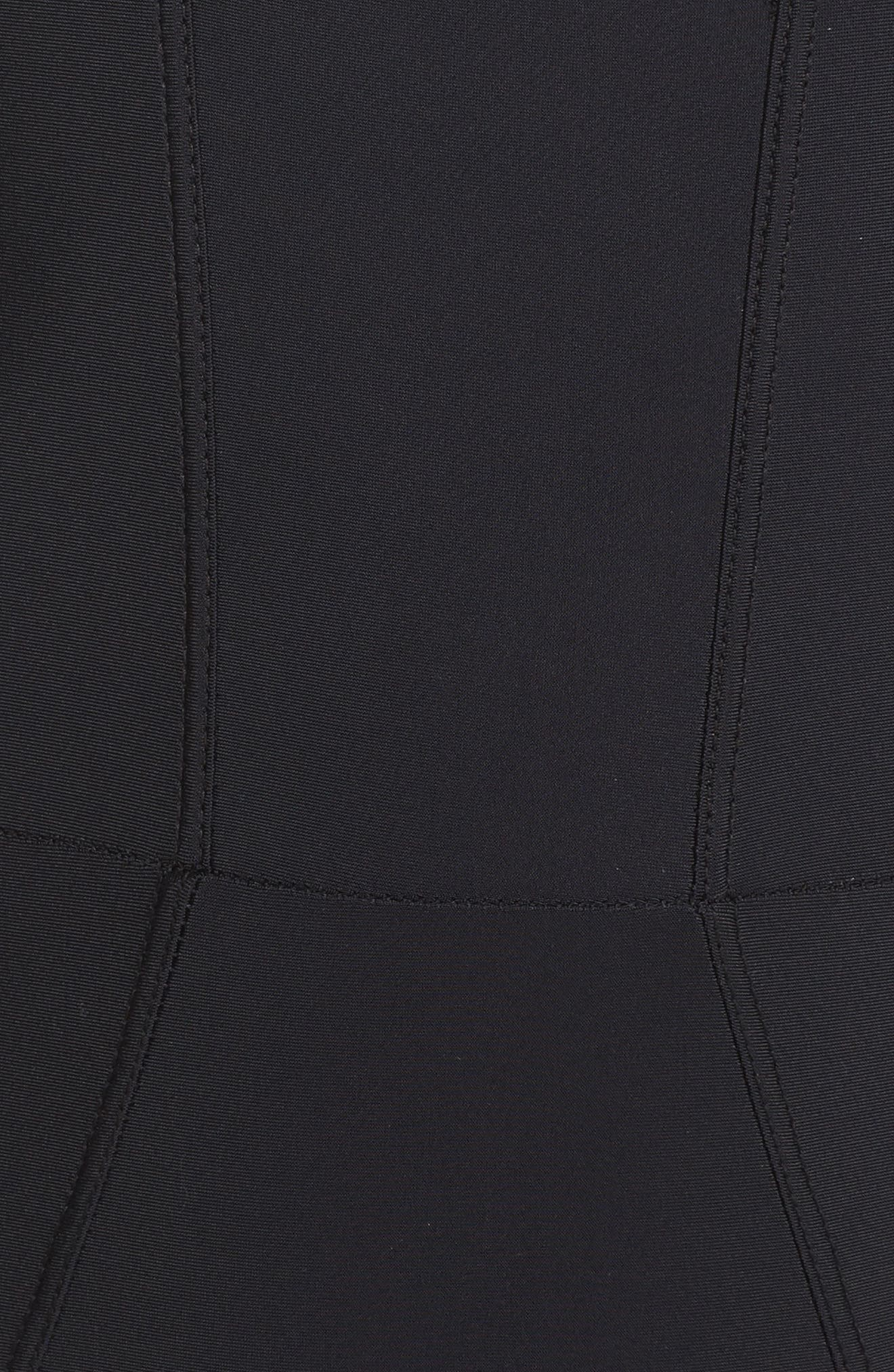 Tidal Back Zip One-Piece Swimsuit,                             Alternate thumbnail 5, color,                             BLACK