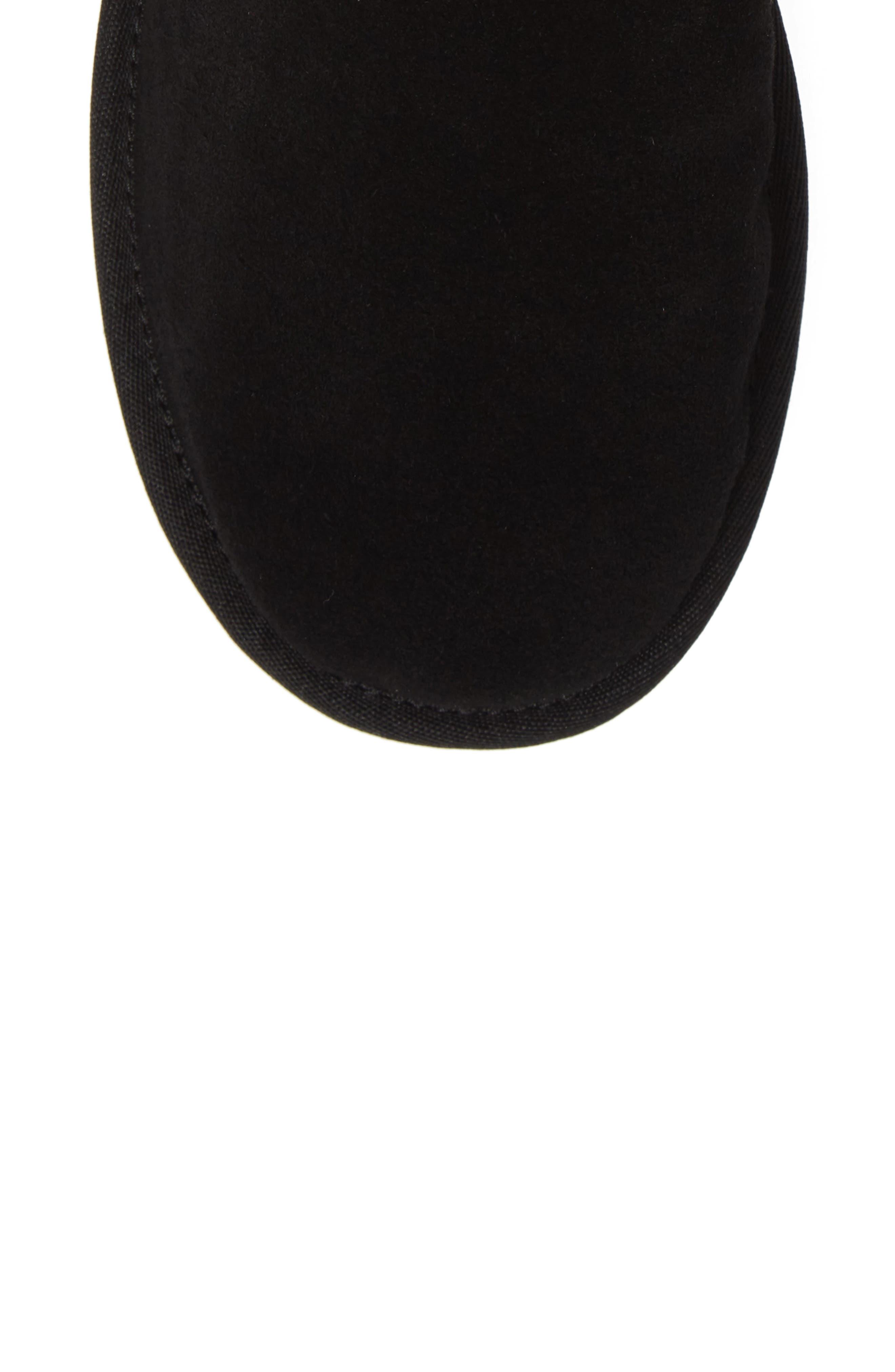 Classic Short Rubber Boot,                             Alternate thumbnail 5, color,                             BLACK