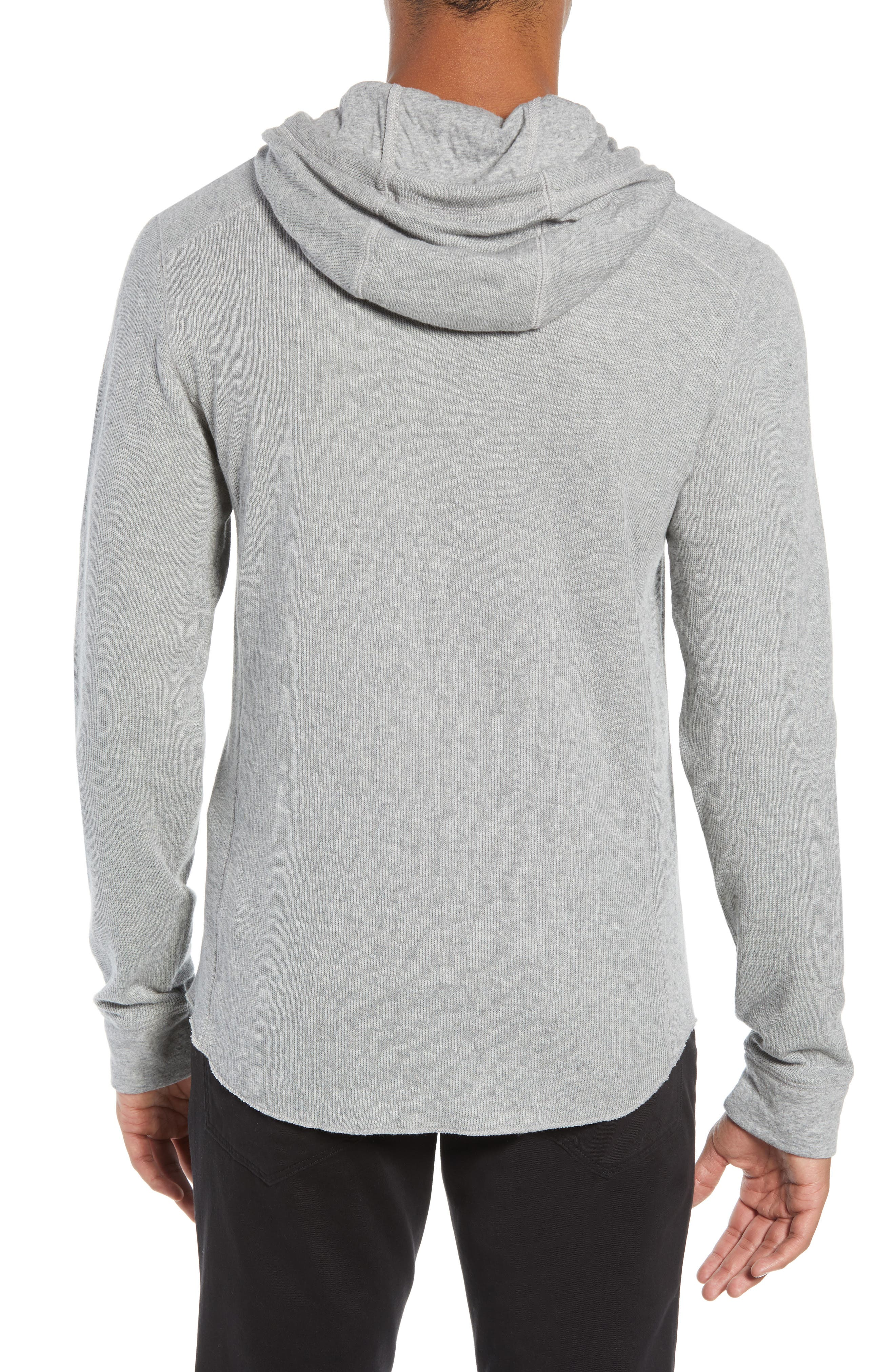 Double Knit Hoodie,                             Alternate thumbnail 2, color,                             H STEEL