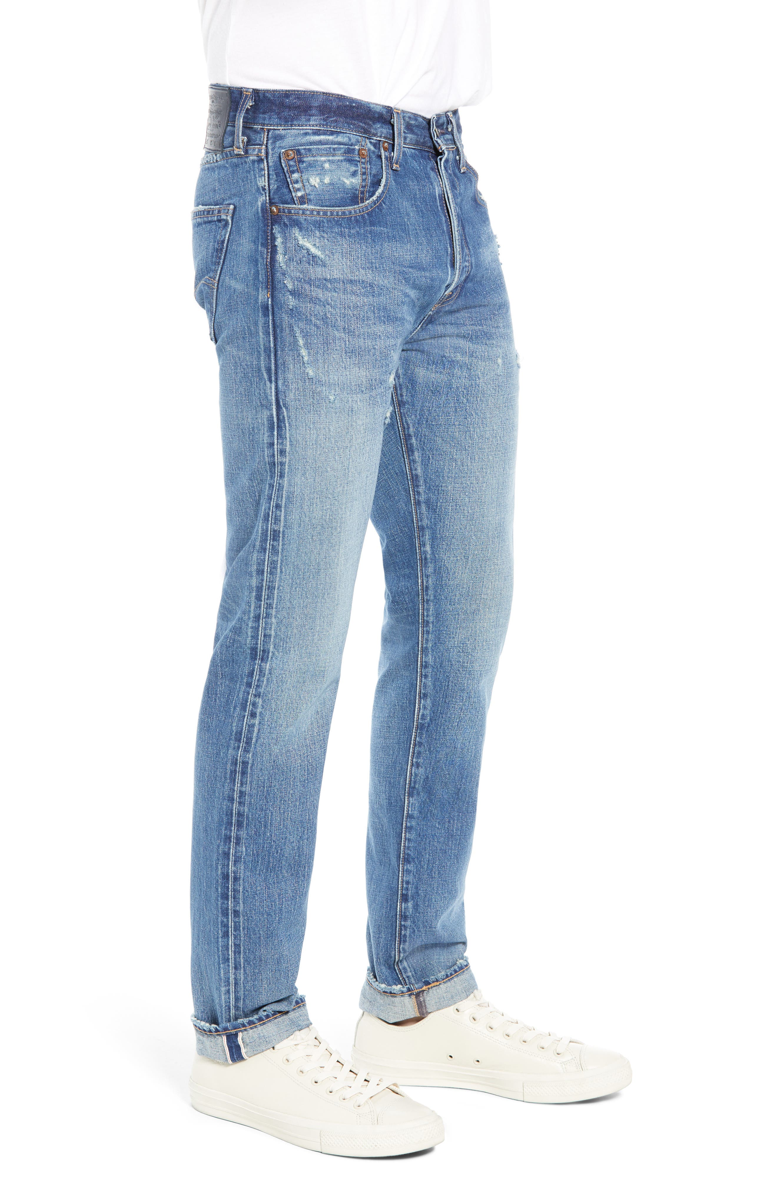 Levi's<sup>®</sup> Made & Crafted 501<sup>™</sup> Slim Fit Tapered Jeans,                             Alternate thumbnail 3, color,                             FOREVER