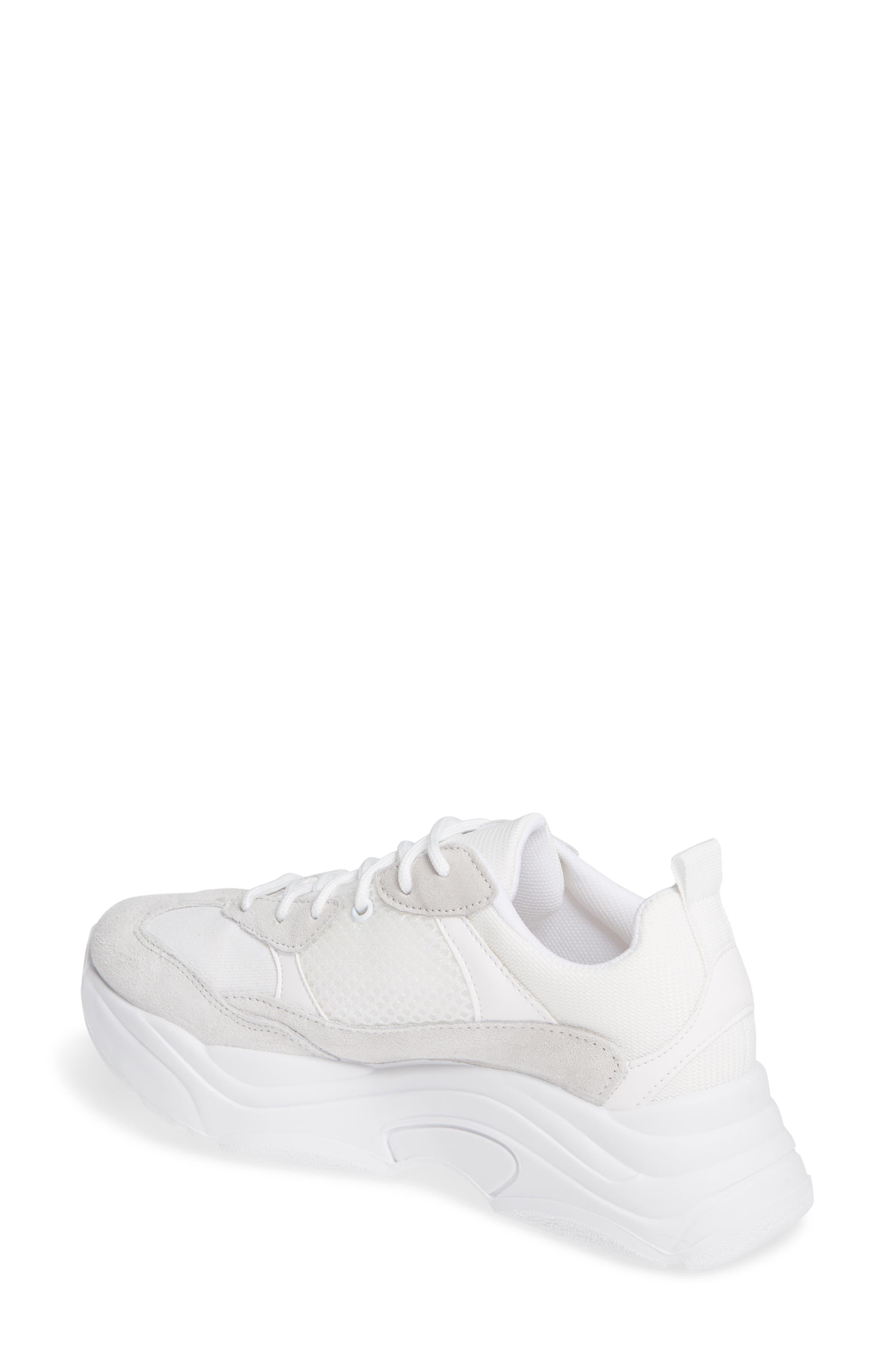 Ciara Chunky Sneaker,                             Alternate thumbnail 2, color,                             WHITE MULTI