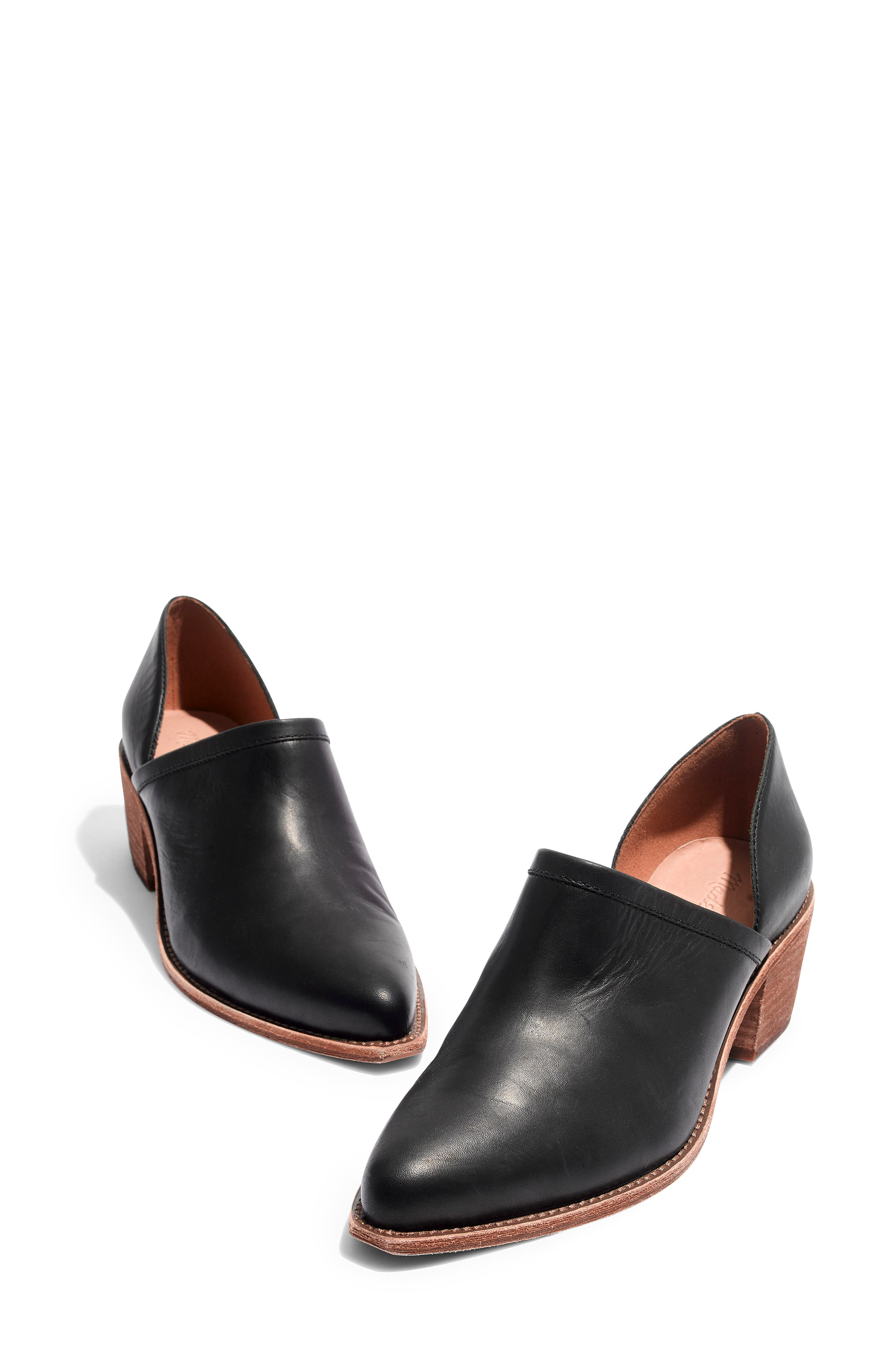 The Brady Block Heel Bootie,                             Alternate thumbnail 8, color,                             TRUE BLACK LEATHER