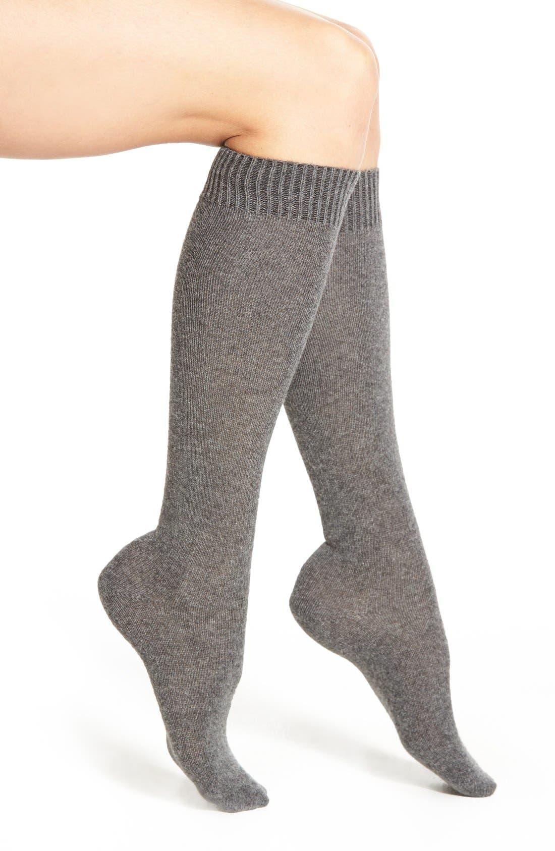 Merino Wool Blend Knee Socks,                             Main thumbnail 3, color,
