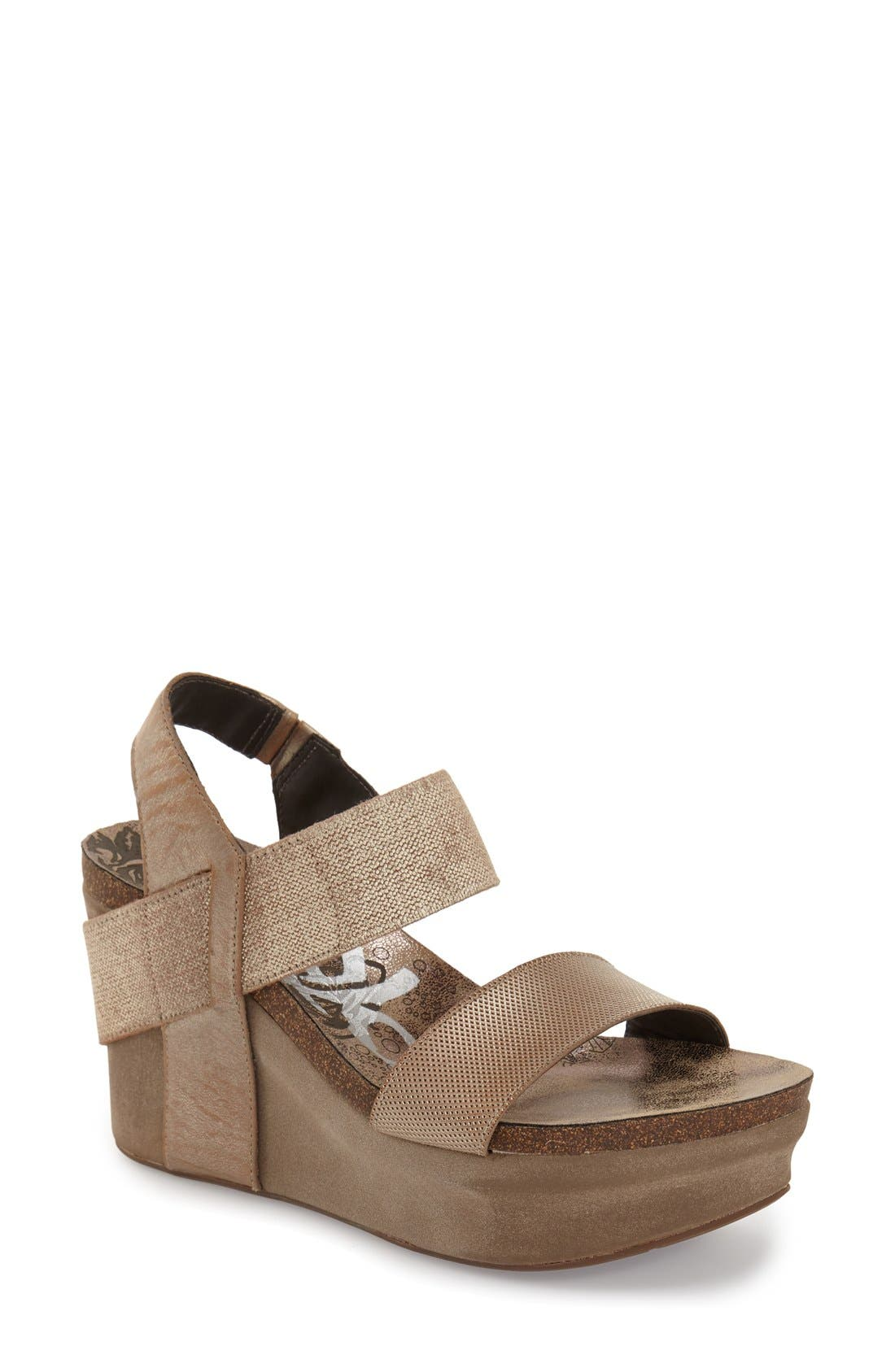 'Bushnell' Wedge Sandal,                             Main thumbnail 2, color,