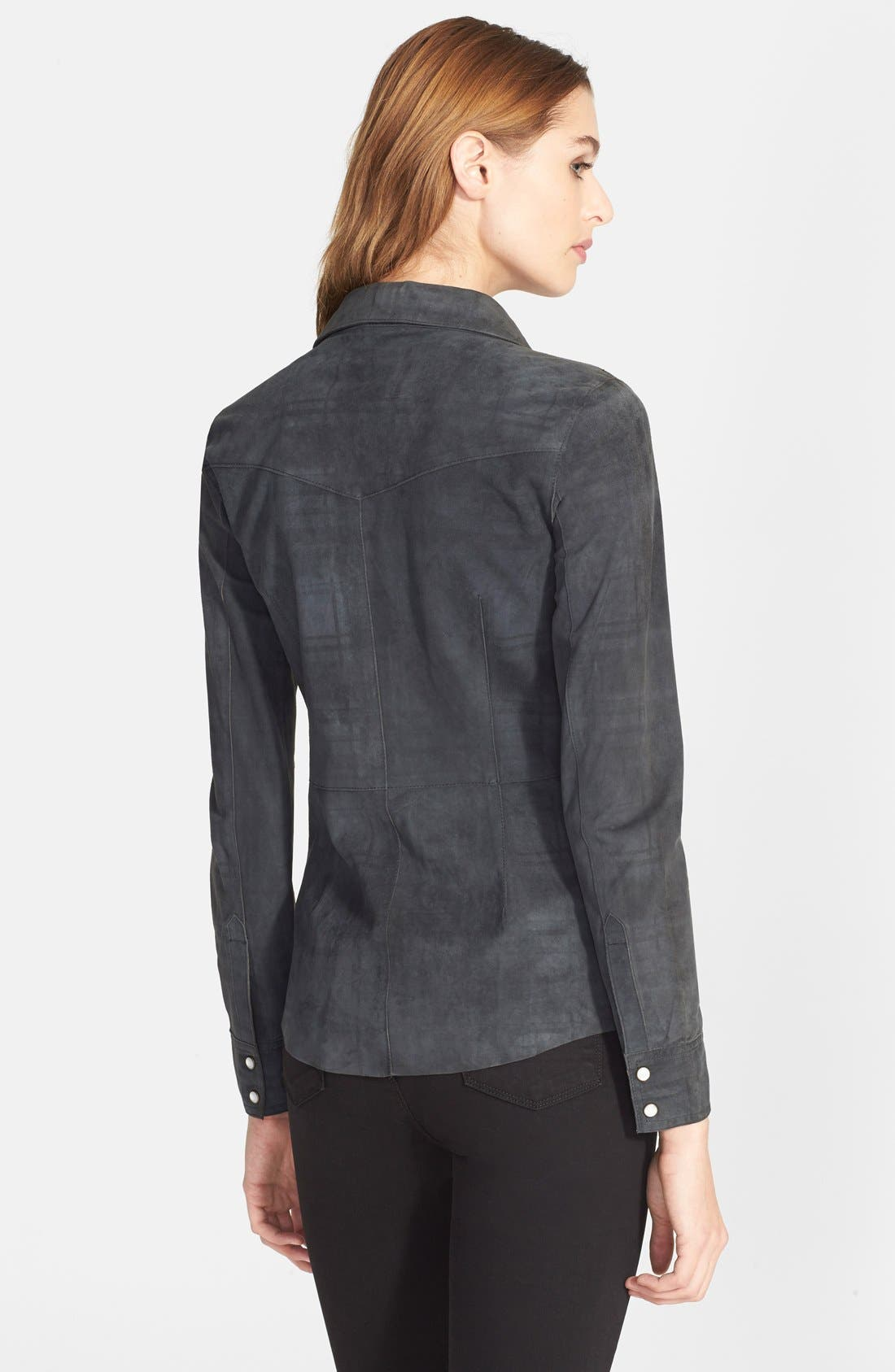 Suede Western Shirt,                             Alternate thumbnail 2, color,                             024