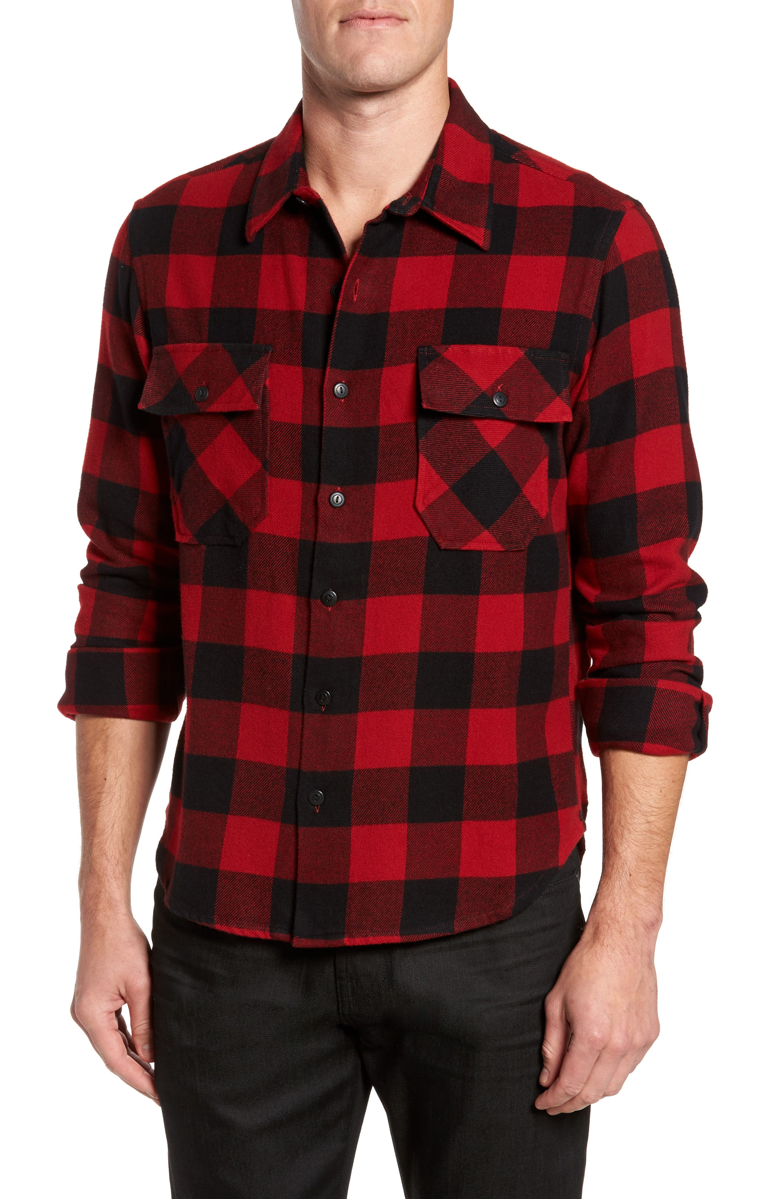 Buffalo Check Shirt Jacket,                         Main,                         color, 640