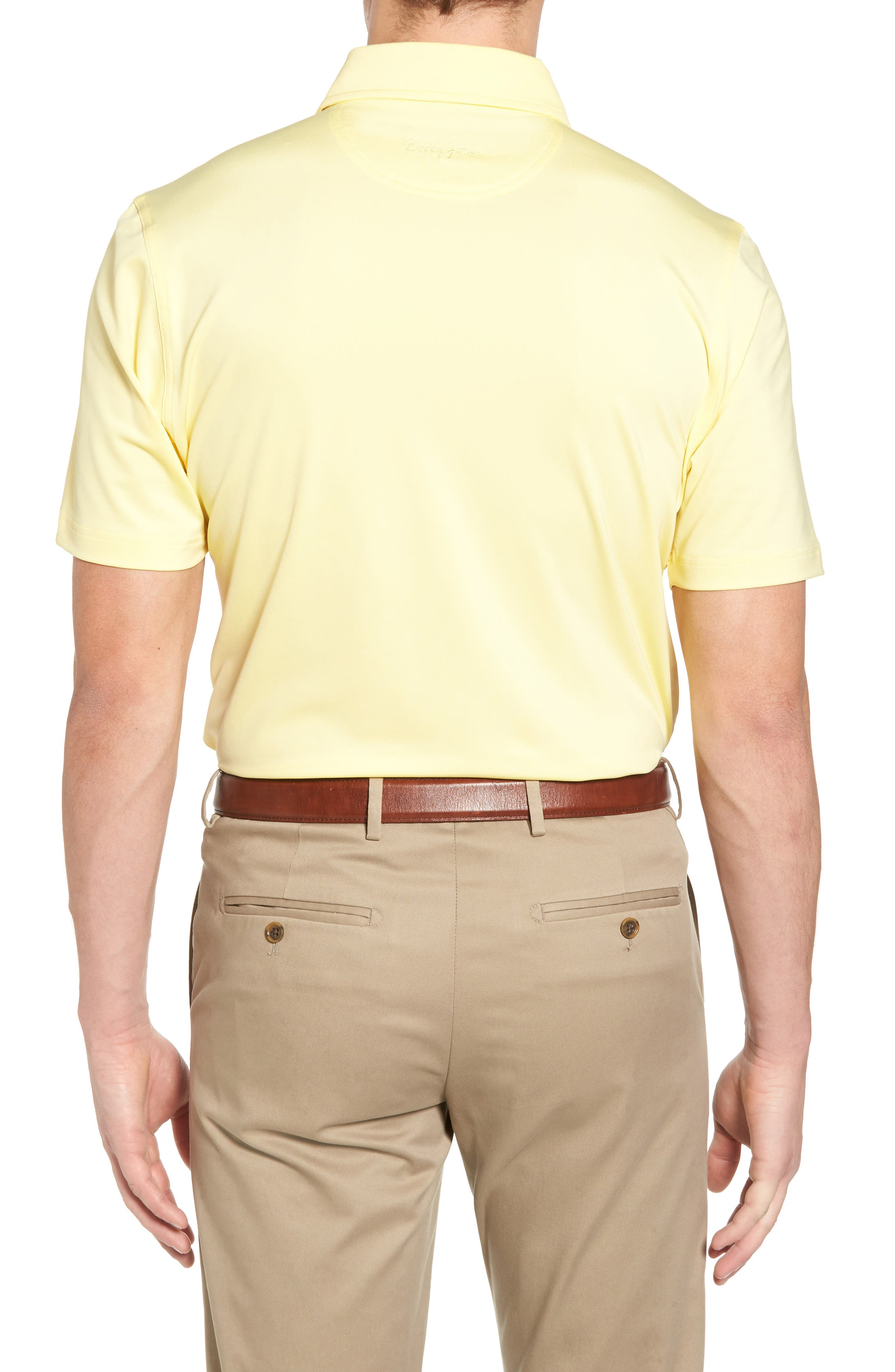 XH20 Regular Fit Stretch Golf Polo,                             Alternate thumbnail 2, color,                             CANARY