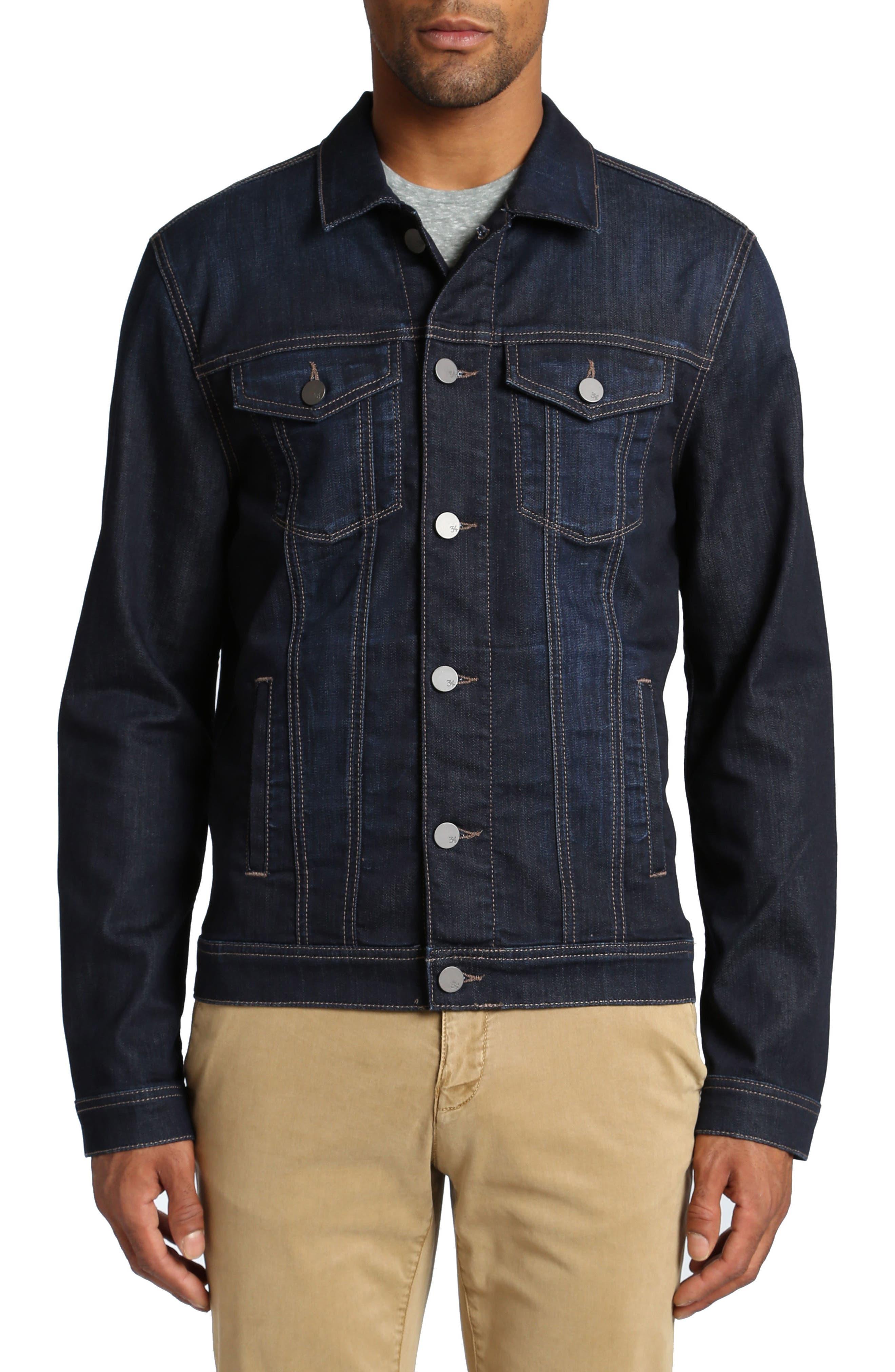 Travis Denim Jacket,                         Main,                         color, DEEP COMFORT