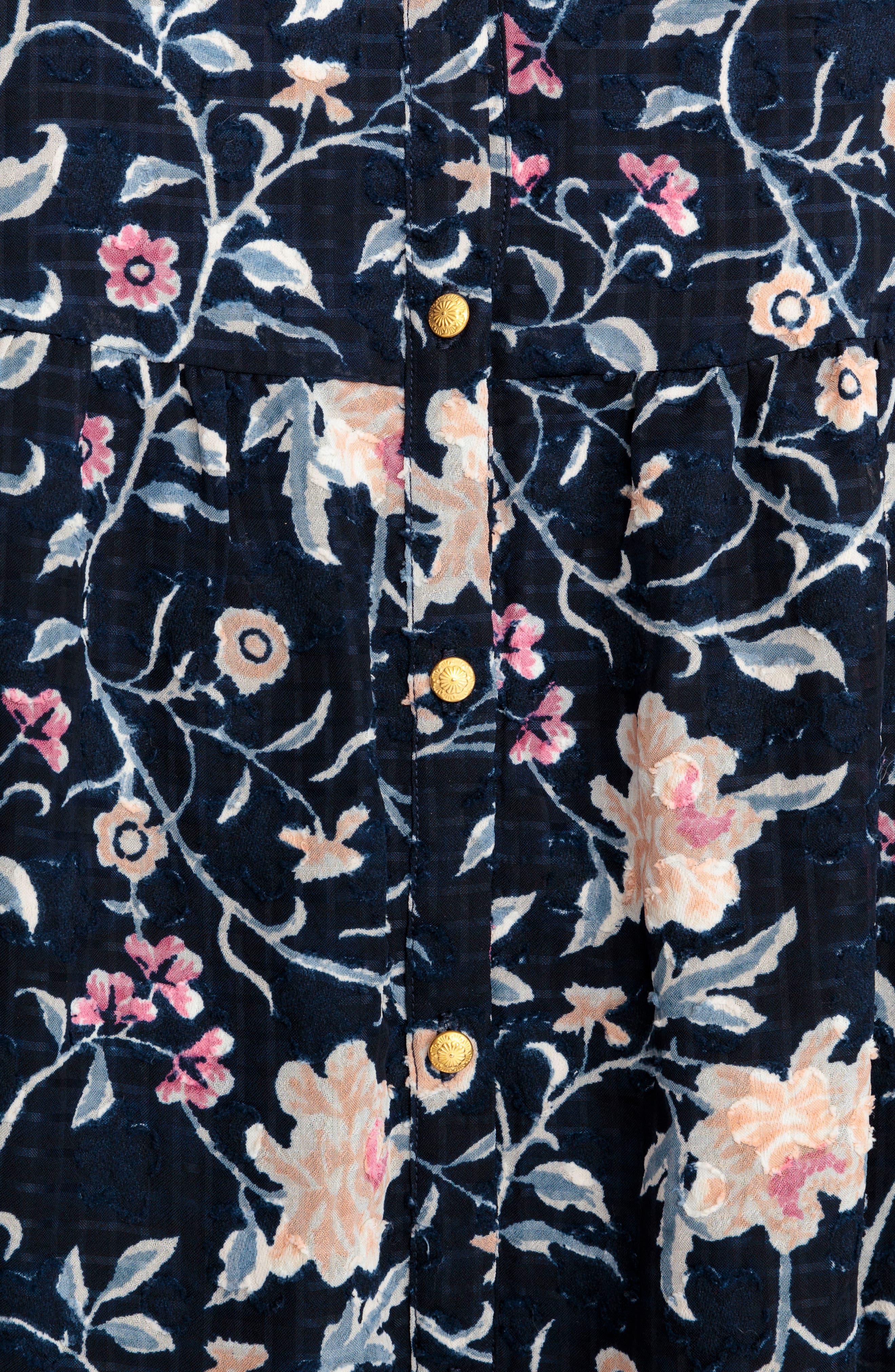 Aure Silk A-Line Dress,                             Alternate thumbnail 11, color,