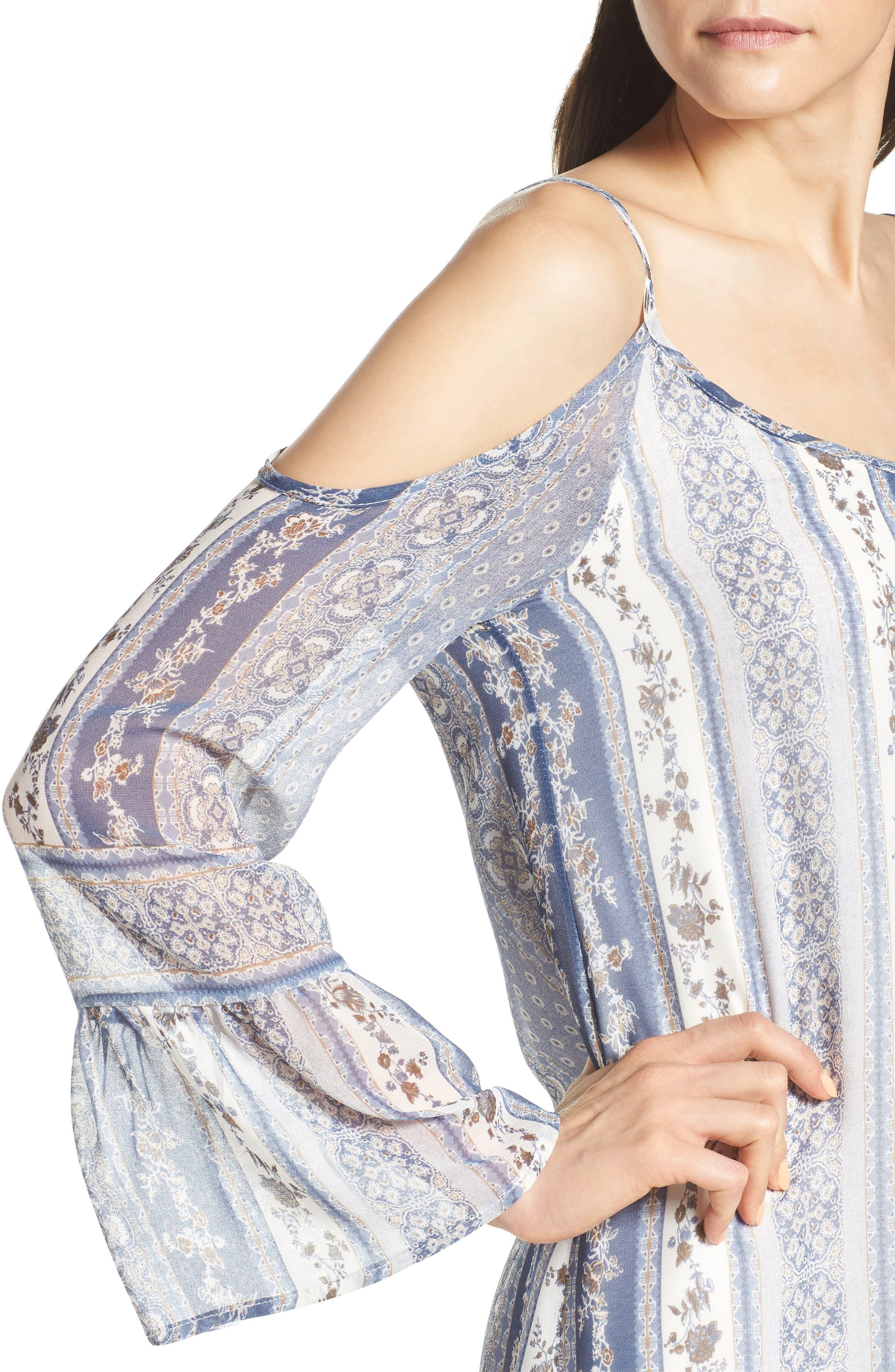Cold Shoulder Dress,                             Alternate thumbnail 4, color,                             450
