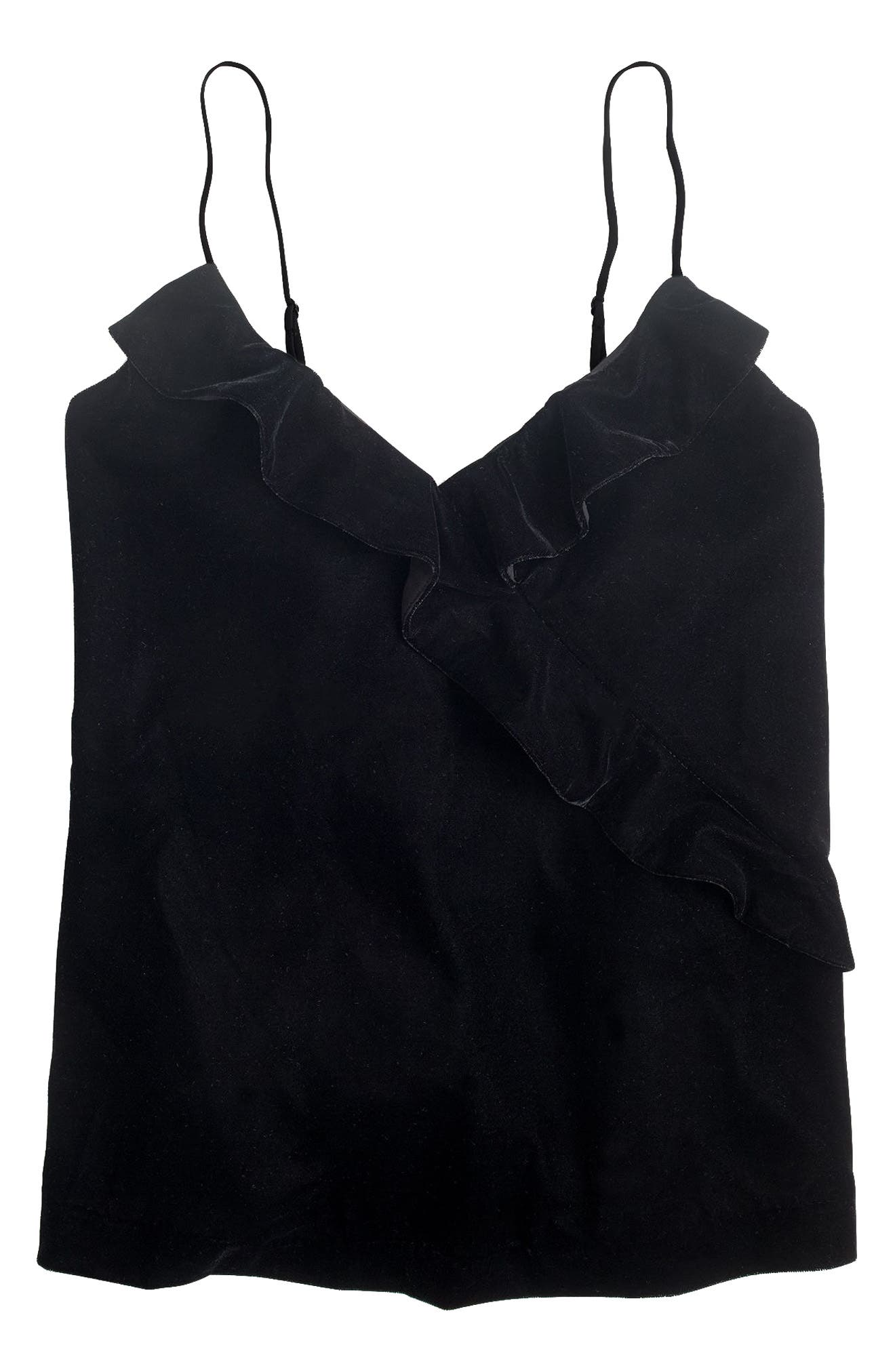Going Out Velvet Top,                         Main,                         color, 001