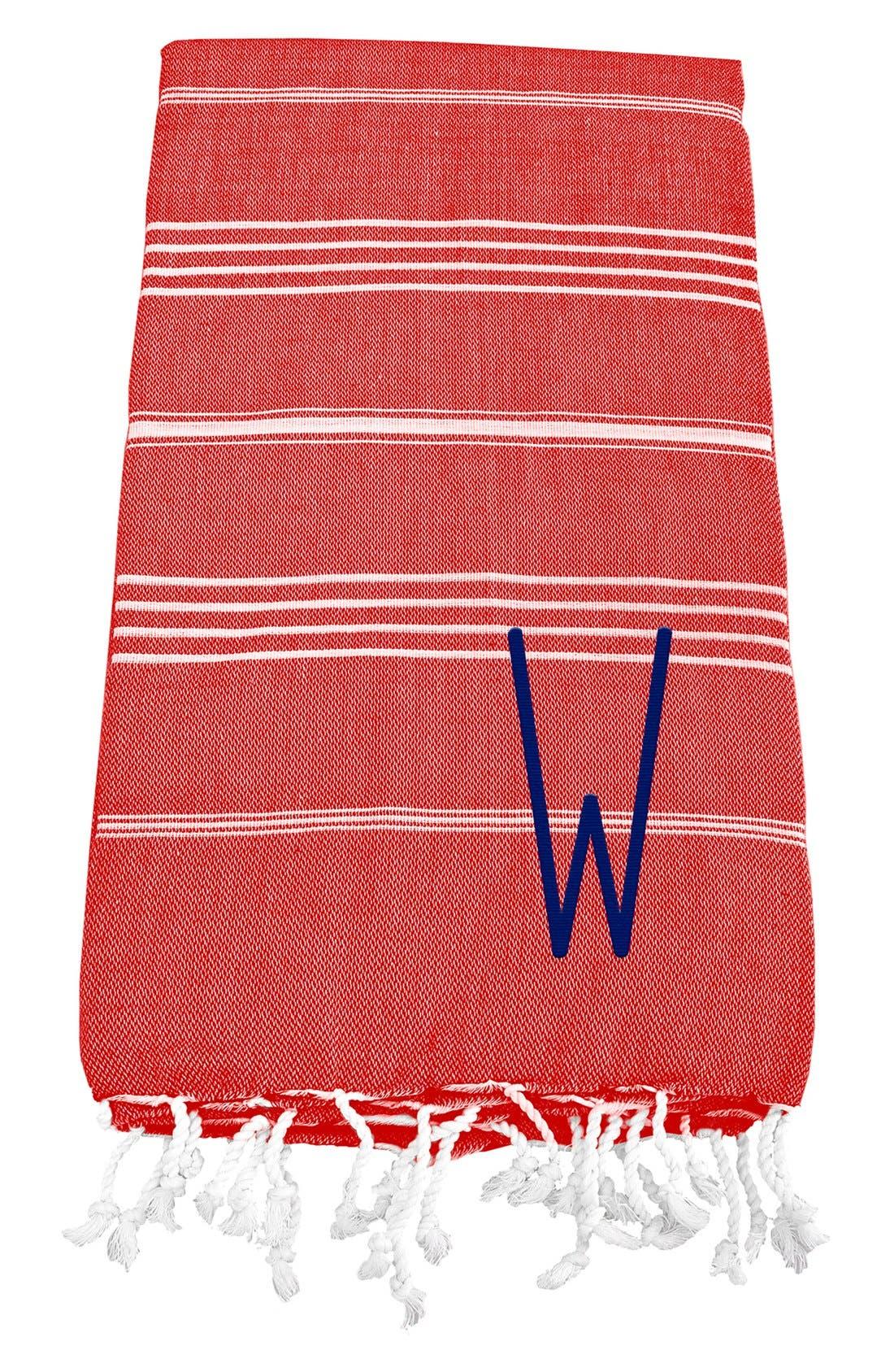 Monogram Turkish Cotton Towel,                             Main thumbnail 132, color,