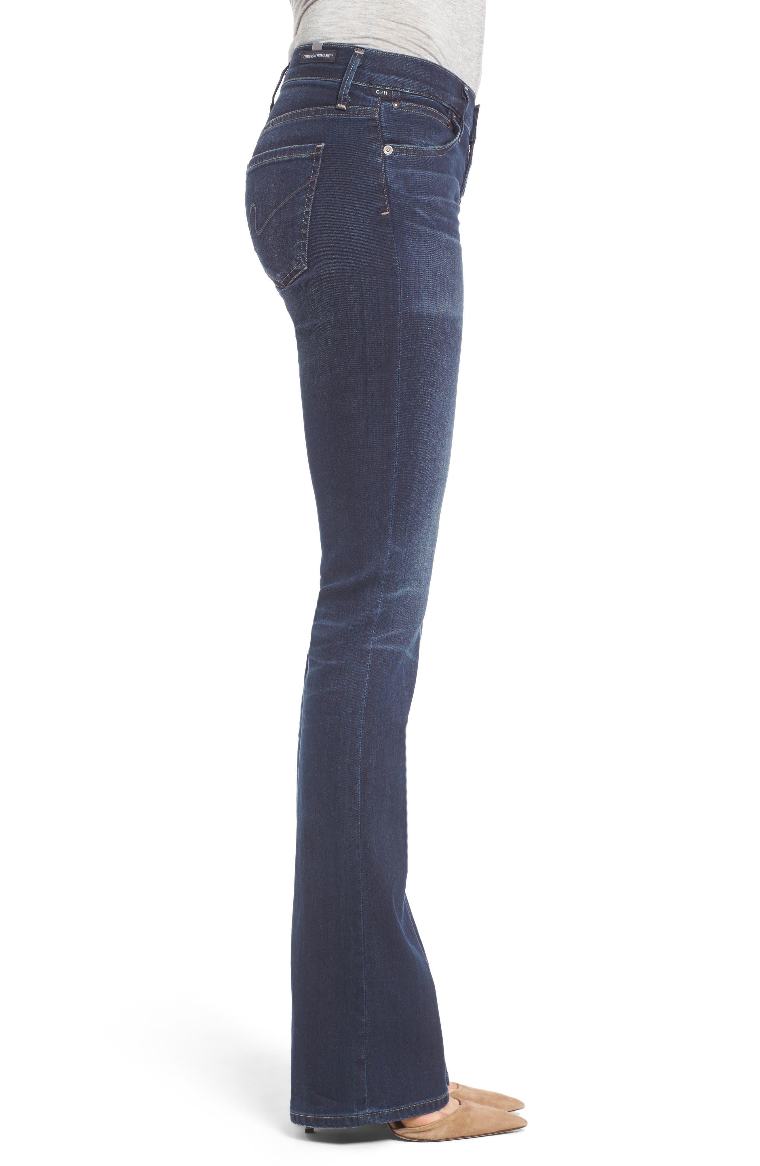 Emmanuelle Slim Bootcut Jeans,                             Alternate thumbnail 3, color,                             405