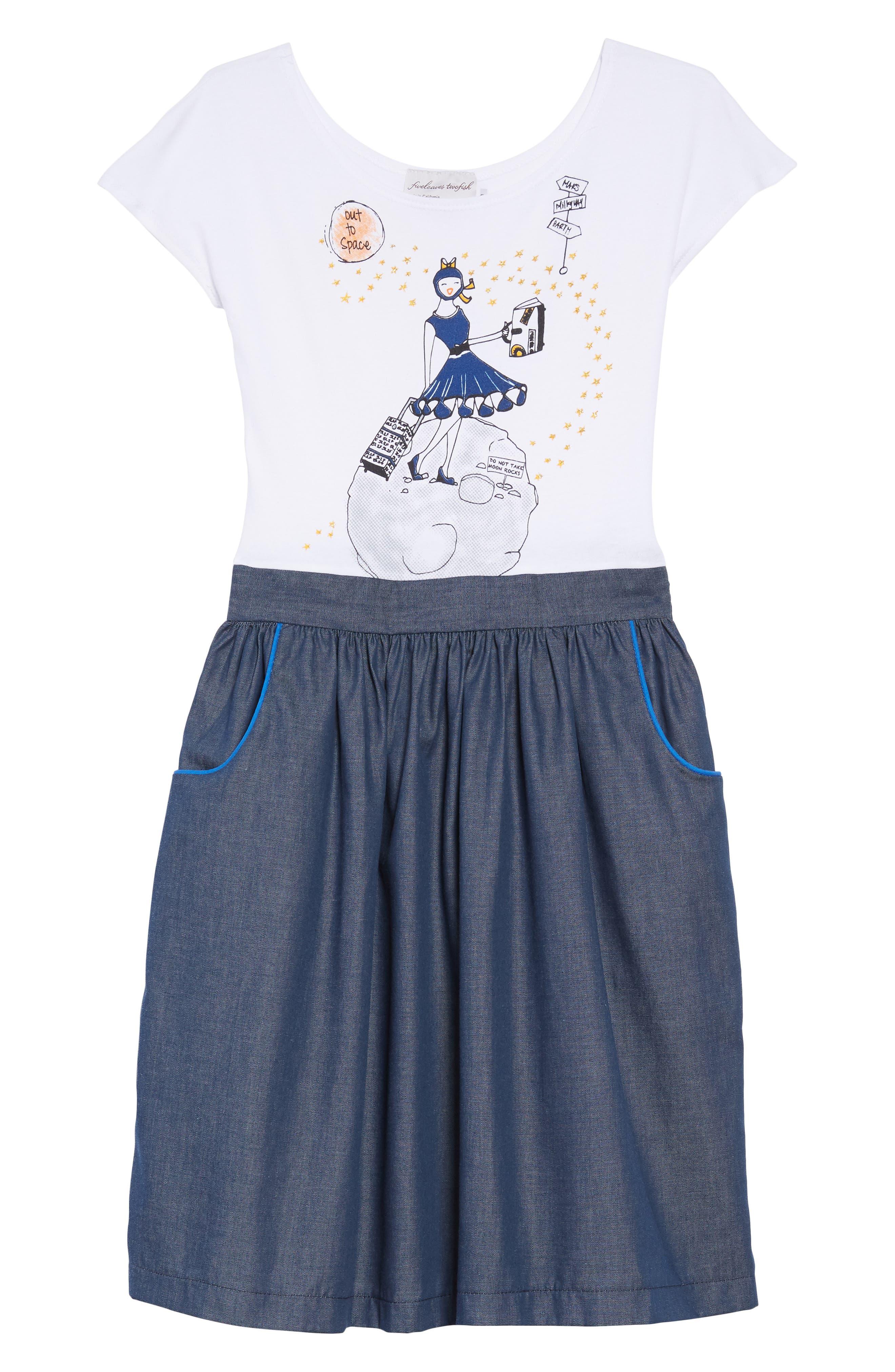 Chambray Dress,                         Main,                         color, 411