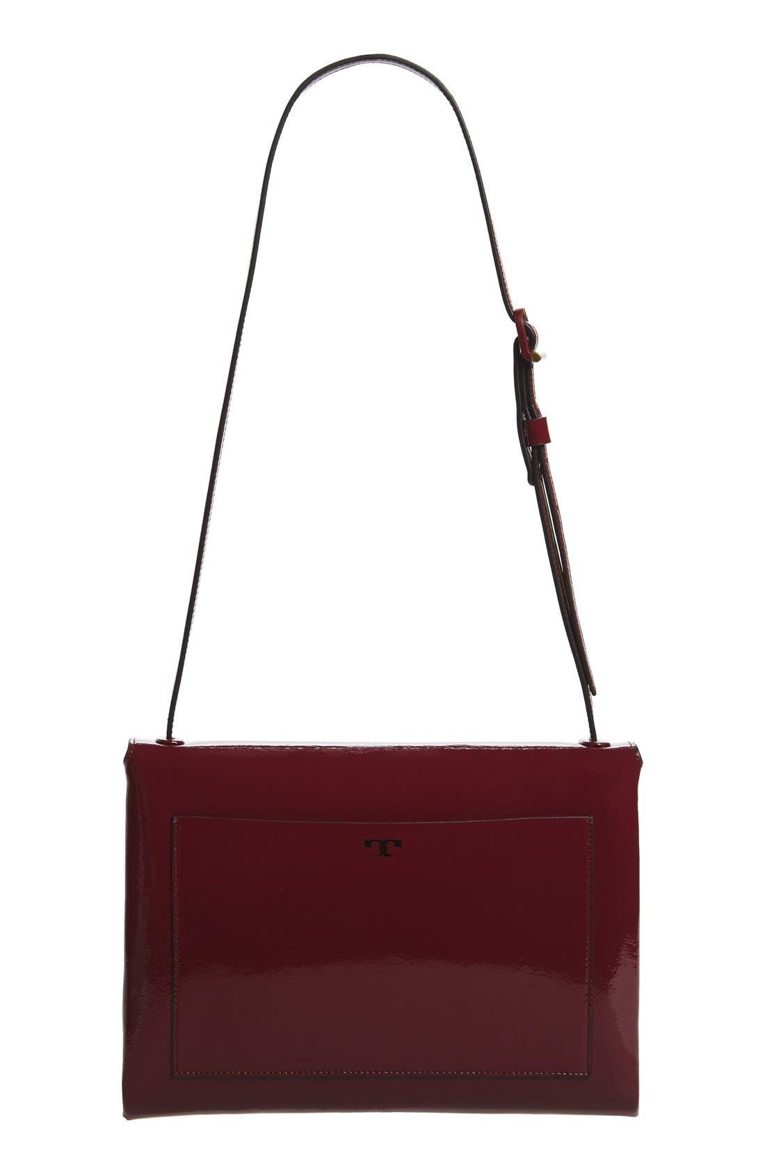 Patent Leather Convertible Shoulder Bag,                             Alternate thumbnail 6, color,                             606