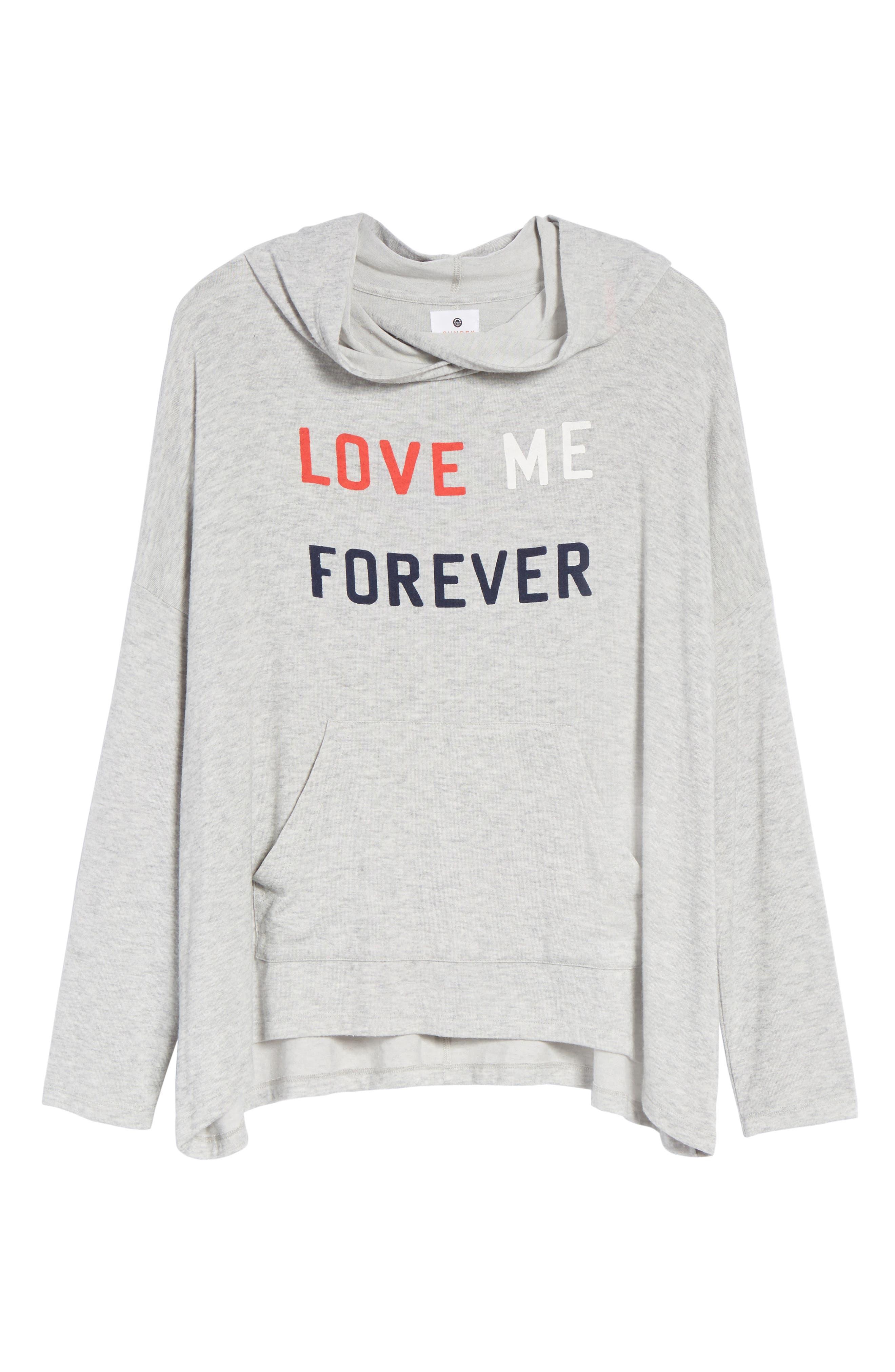 Love Me Forever Hoodie,                             Alternate thumbnail 6, color,                             039