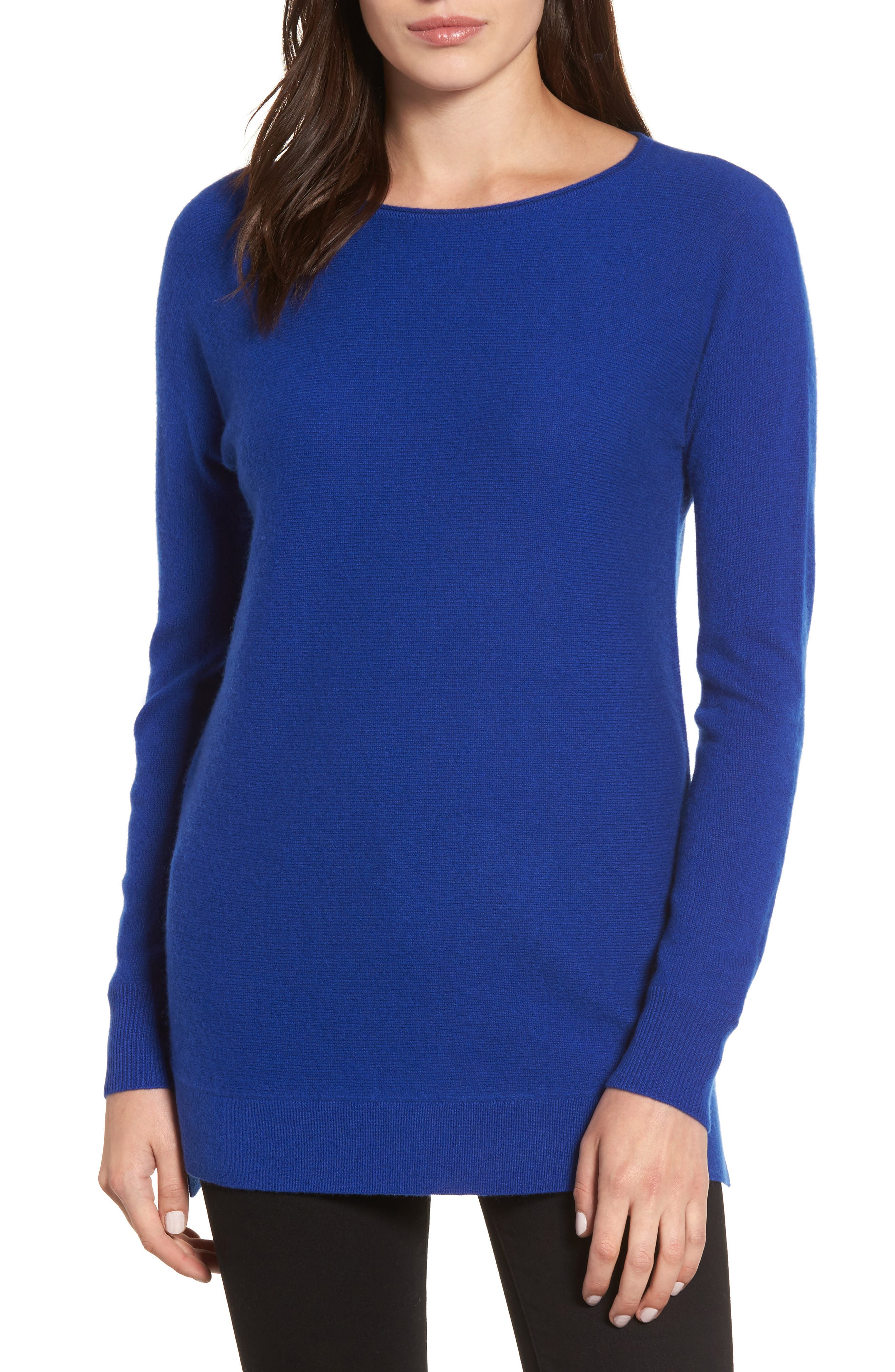 High/Low Wool & Cashmere Tunic Sweater,                             Main thumbnail 7, color,