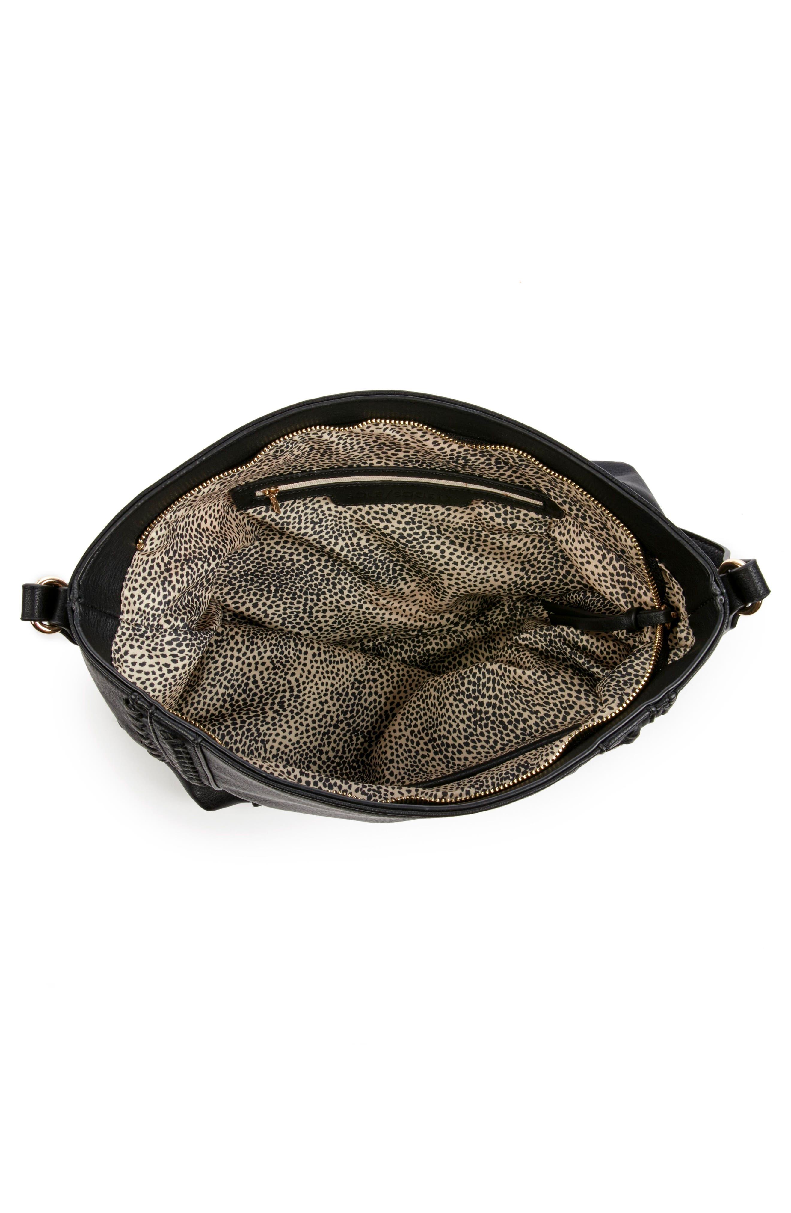 Destin Faux Leather Hobo Bag,                             Alternate thumbnail 3, color,                             001
