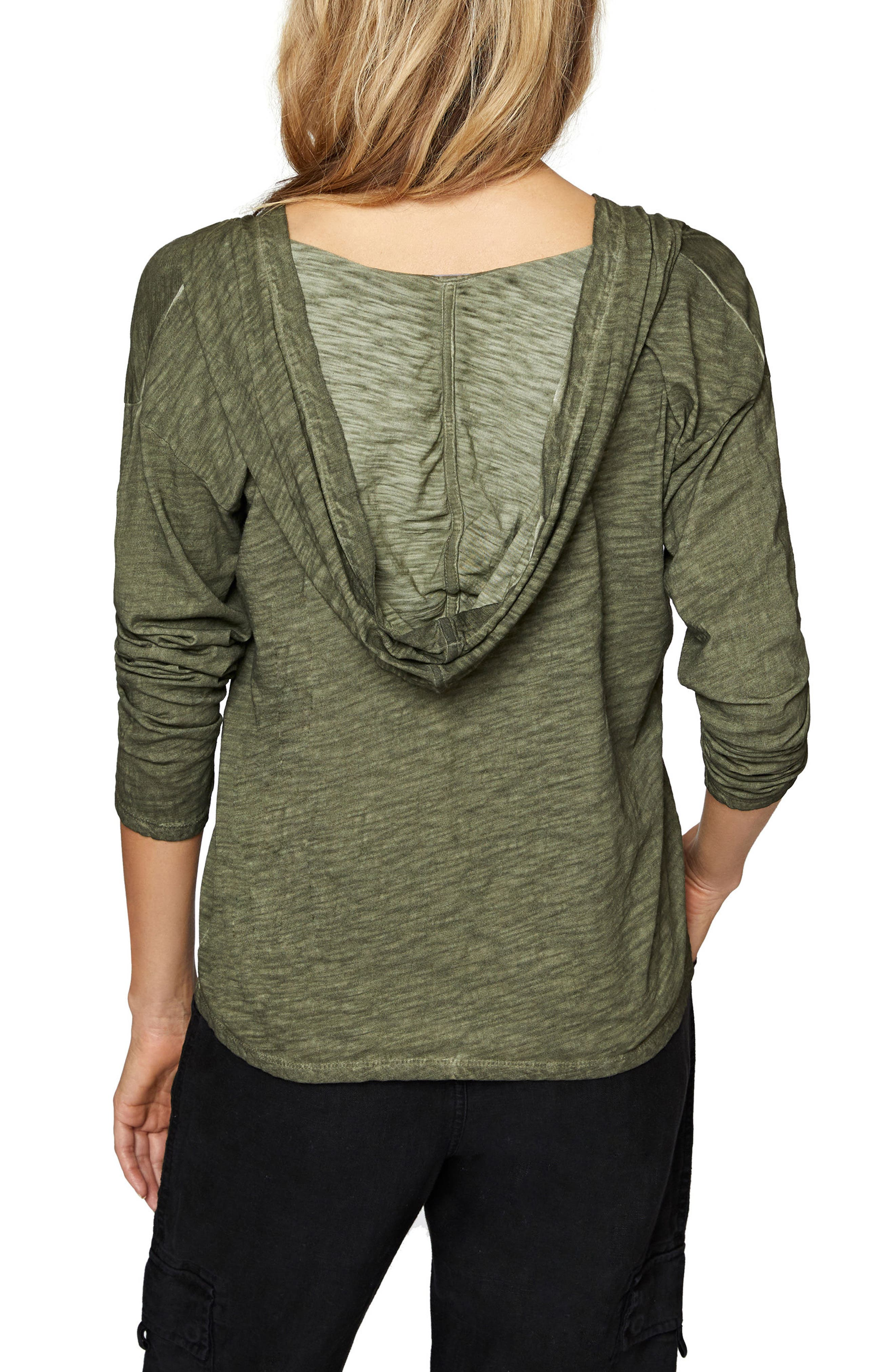 Atwater Lace-Up Hoodie,                             Alternate thumbnail 5, color,