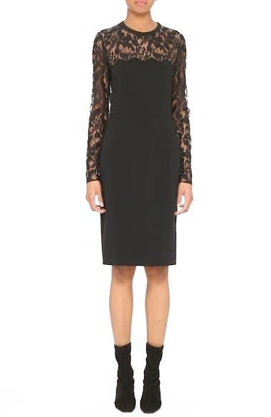 Lace Illusion Sheath Dress, video thumbnail