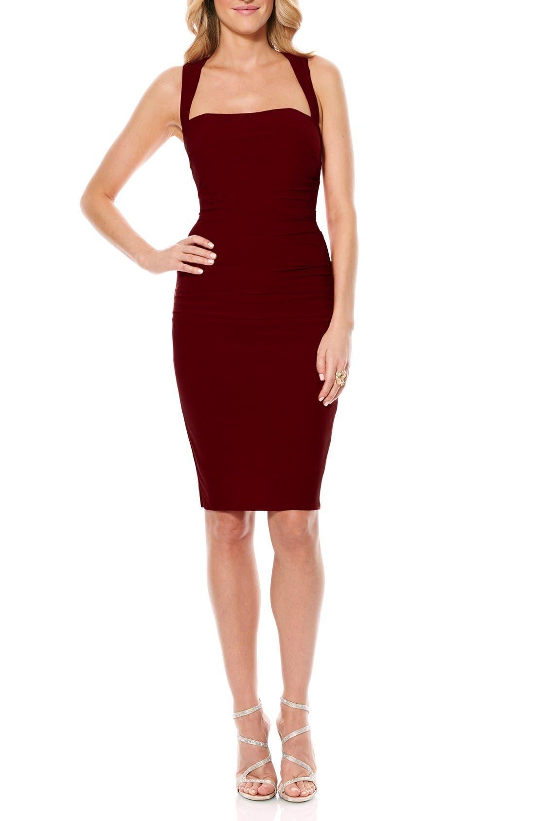 Twist Back Jersey Body-Con Dress,                             Main thumbnail 4, color,