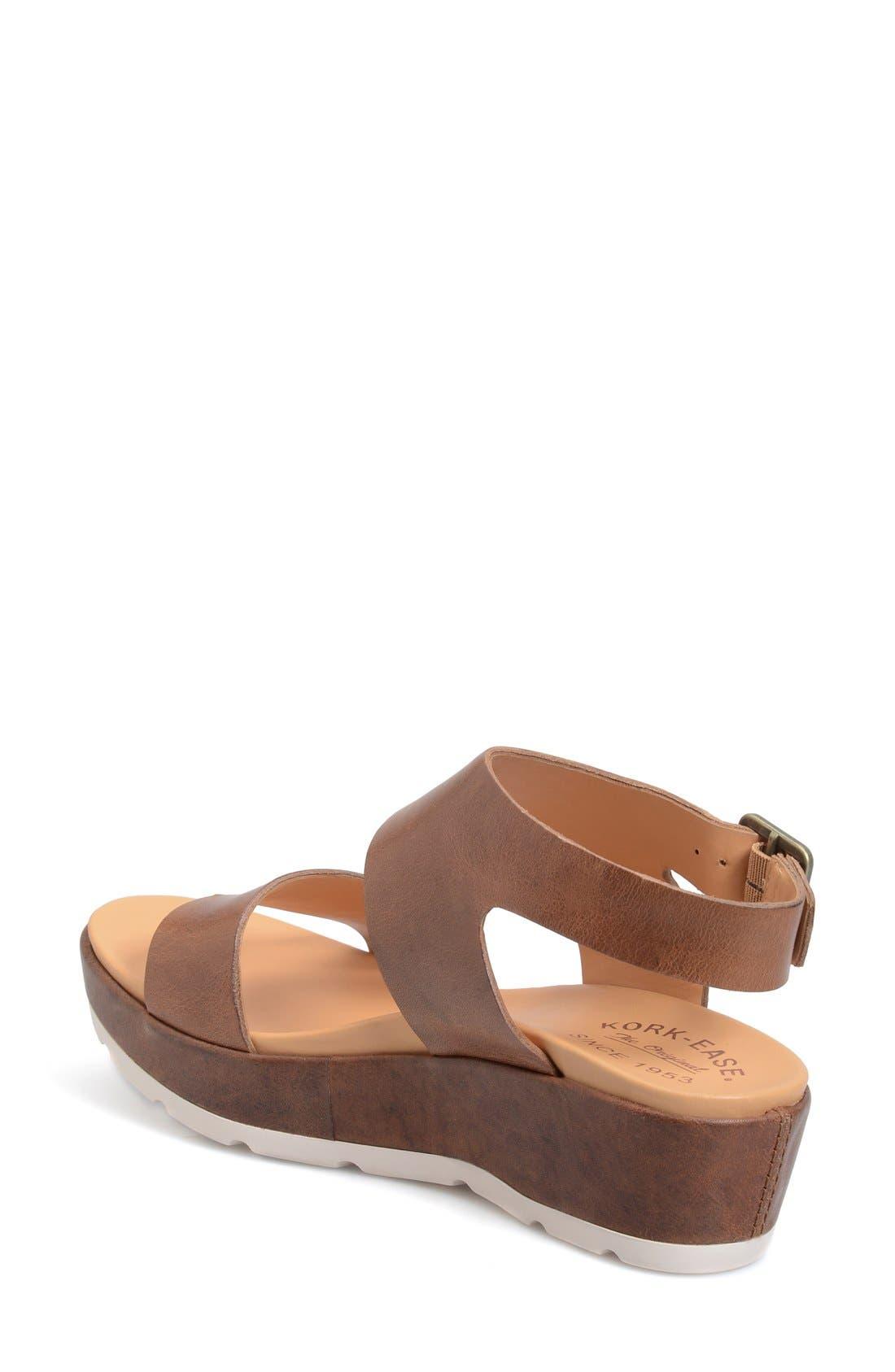 'Khloe' Platform Wedge Sandal,                             Alternate thumbnail 7, color,