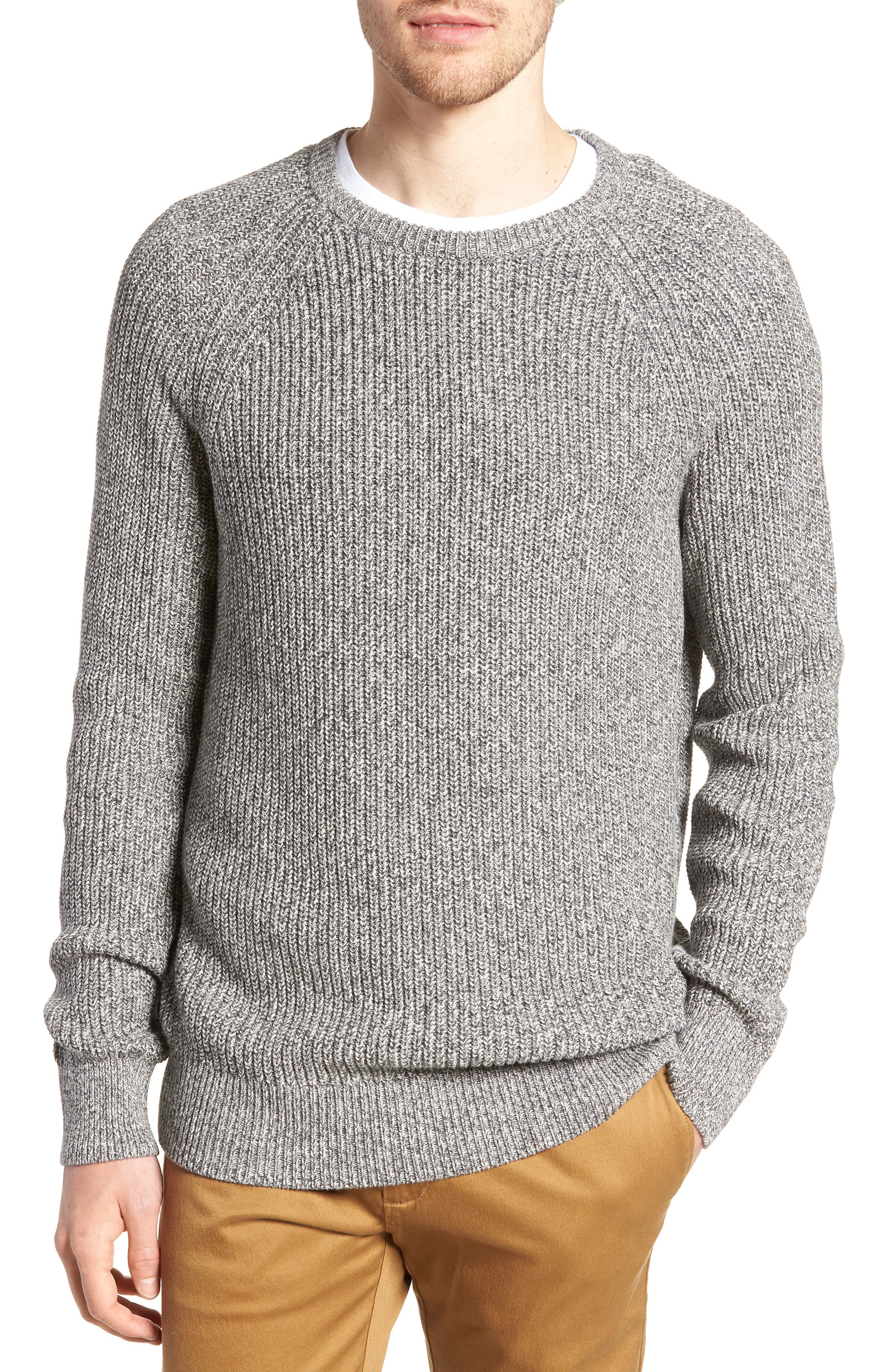 Marled Cotton Crewneck Sweater,                         Main,                         color, 020