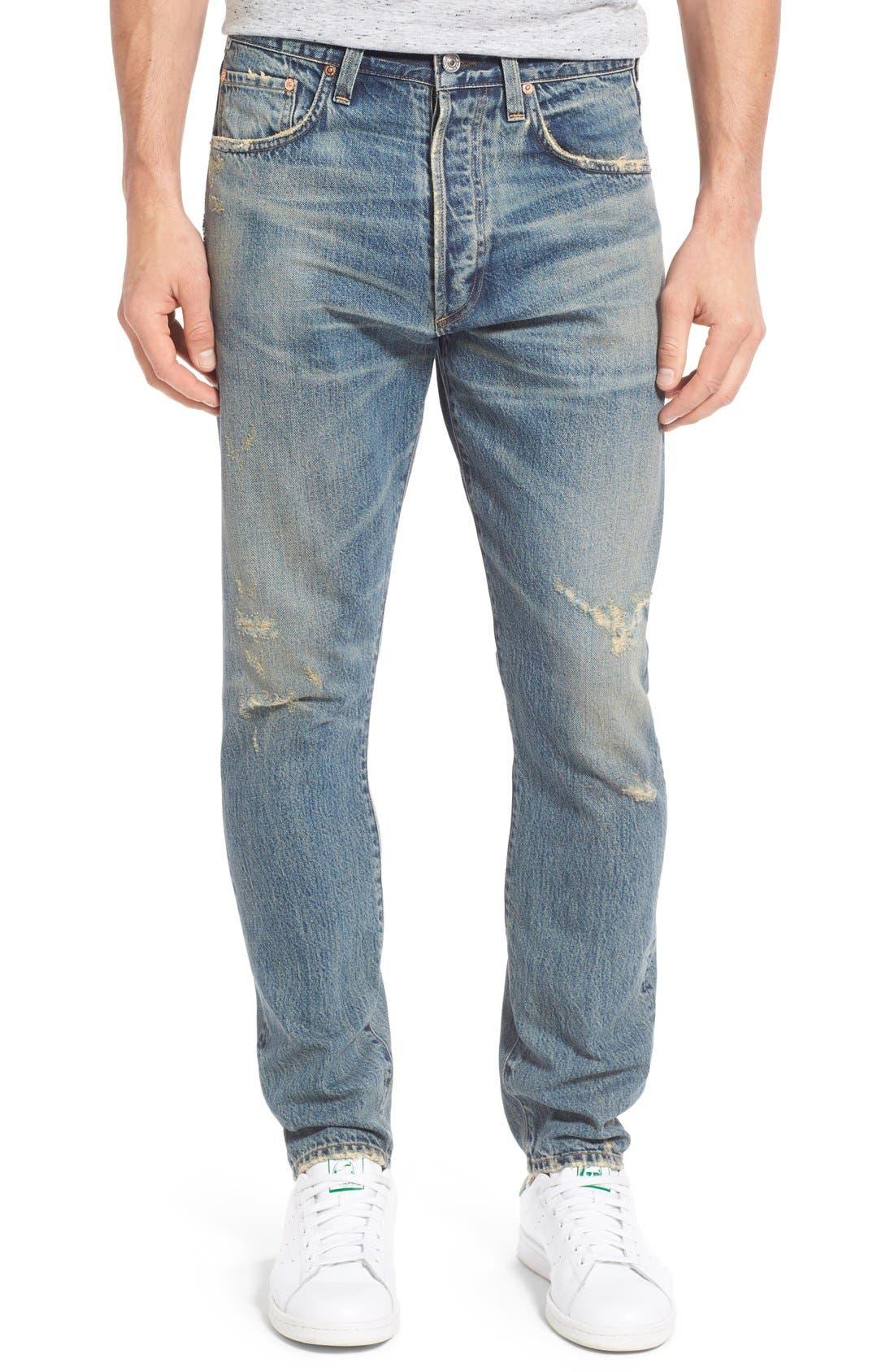 Rowan Slouchy Skinny Fit Jeans,                             Main thumbnail 1, color,                             462