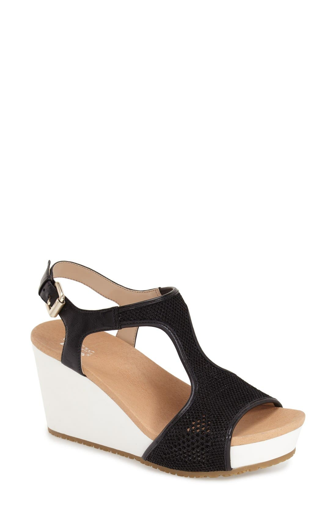 'Original Collection Wiley' Wedge Sandal,                             Main thumbnail 1, color,                             001