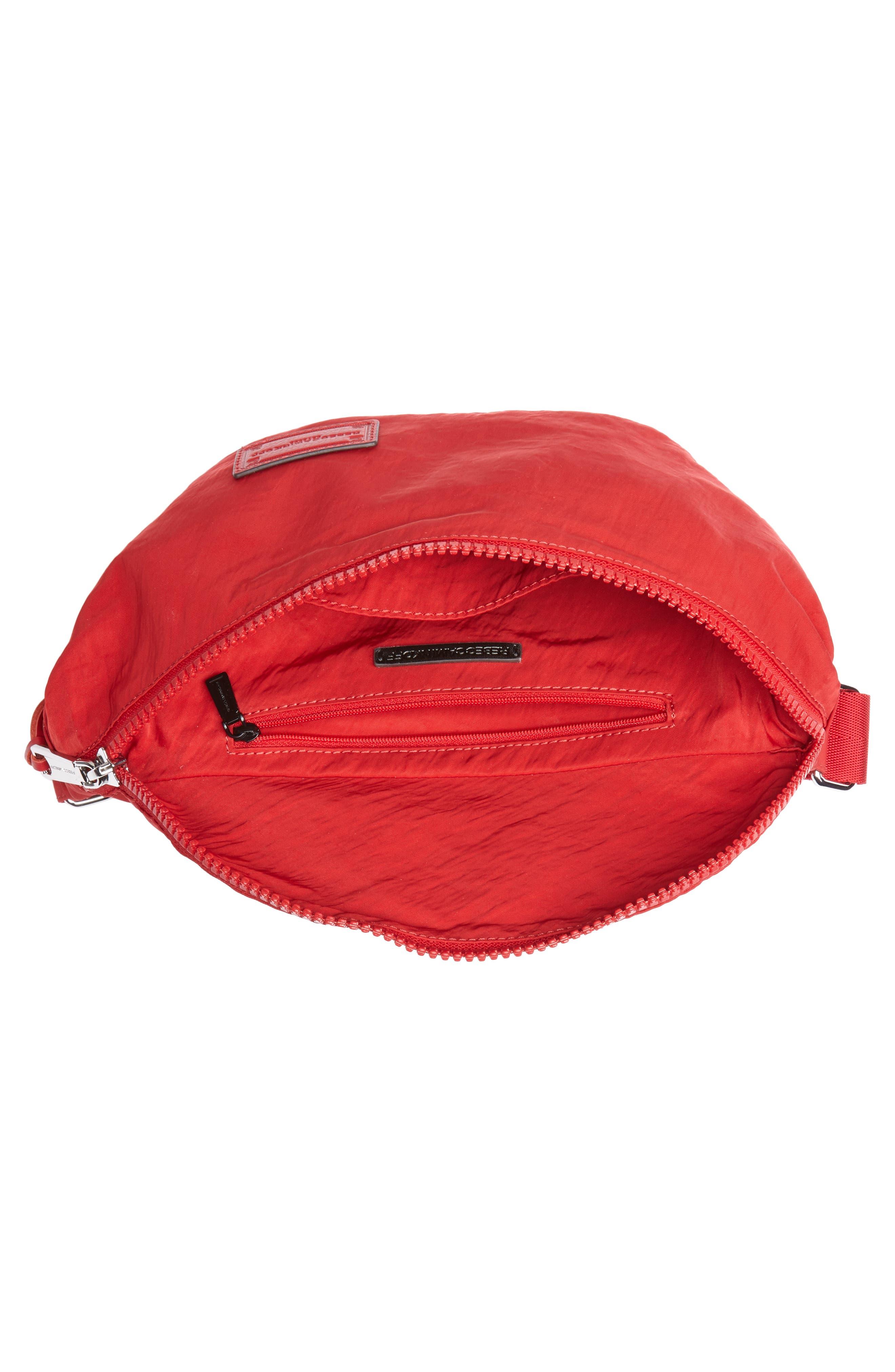 Nylon Belt Bag,                             Alternate thumbnail 5, color,                             SCARLET