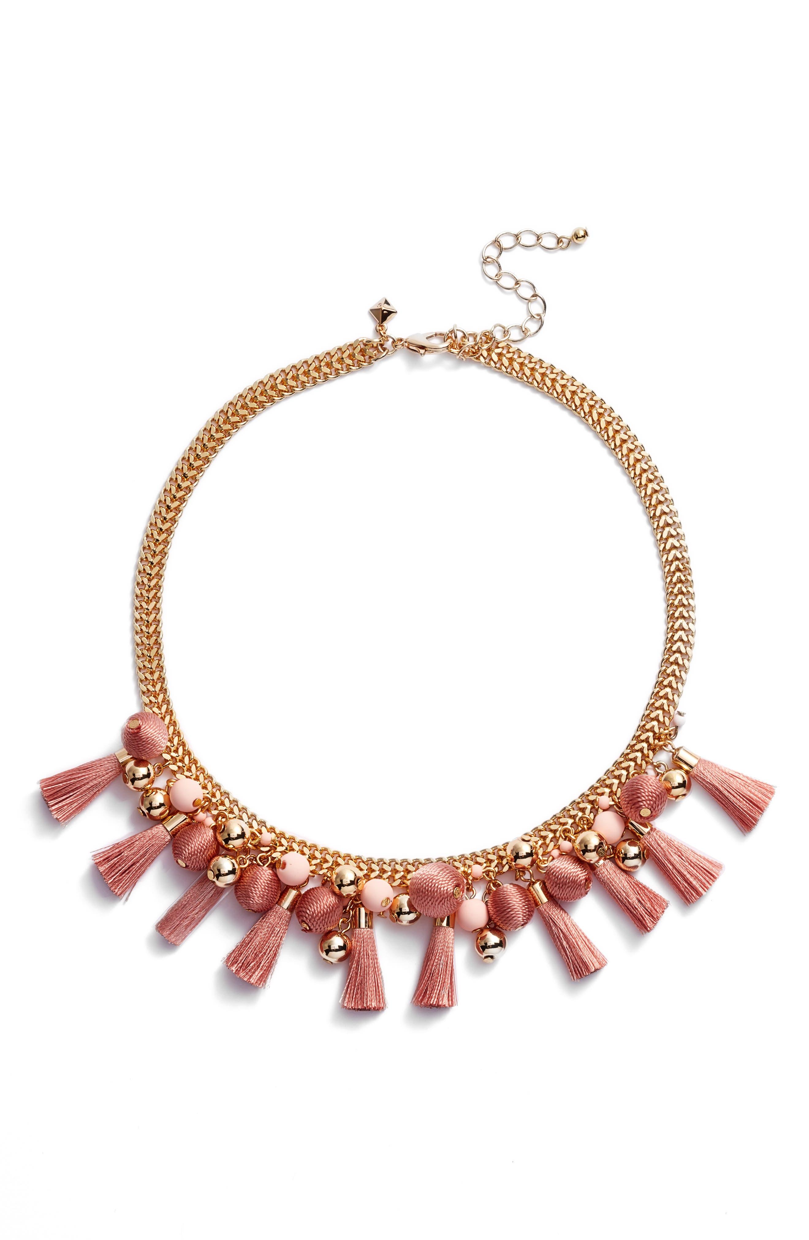 Bauble & Tassel Collar Necklace,                             Main thumbnail 2, color,