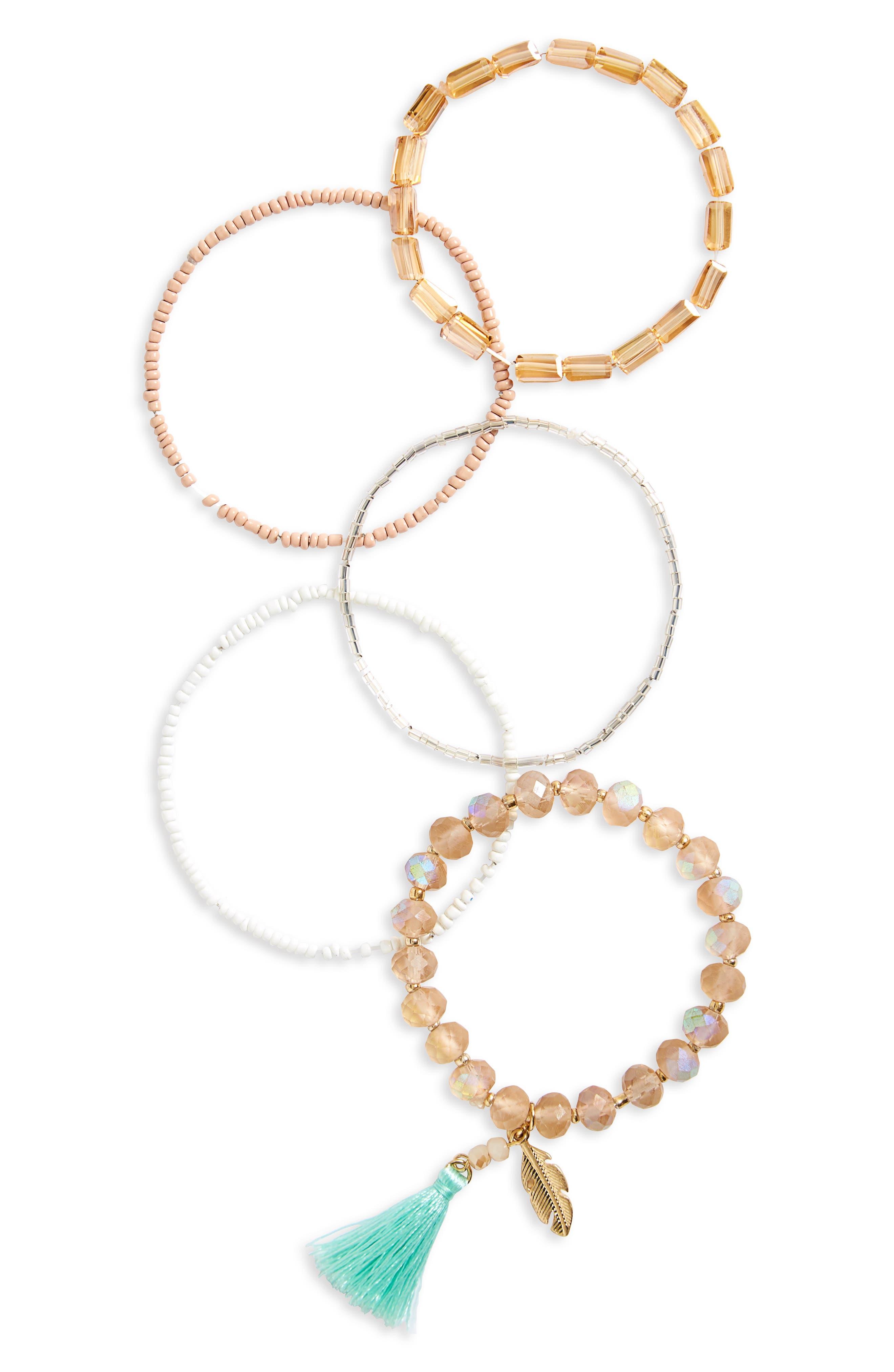 Set of 5 Assorted Stretch Bracelets,                             Main thumbnail 1, color,                             710