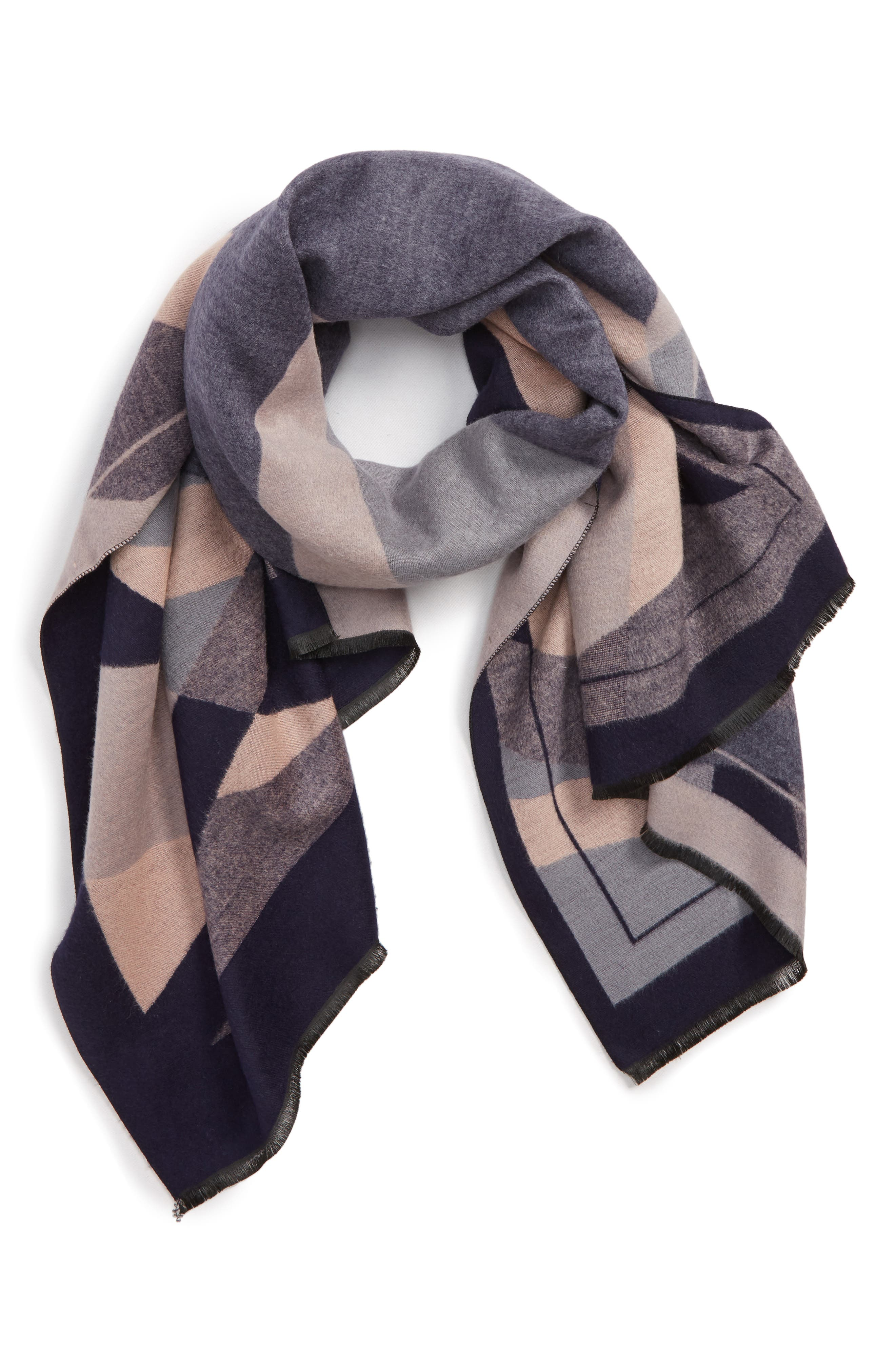 Abstract Geo Print Scarf,                         Main,                         color, 400